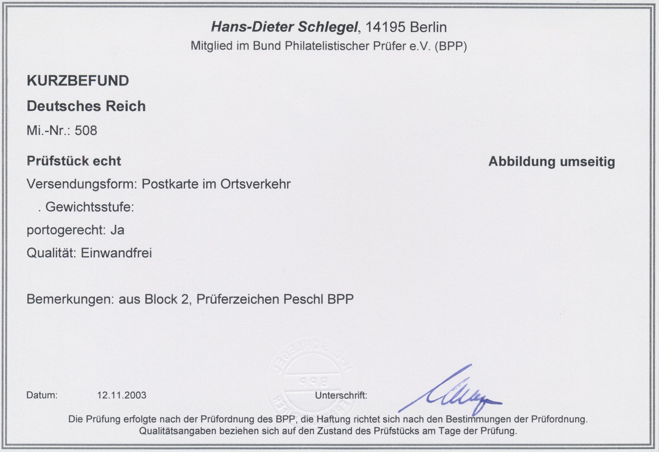 Lot 17412 - Deutsches Reich - 3. Reich  -  Auktionshaus Christoph Gärtner GmbH & Co. KG Sale #45- GERMANY