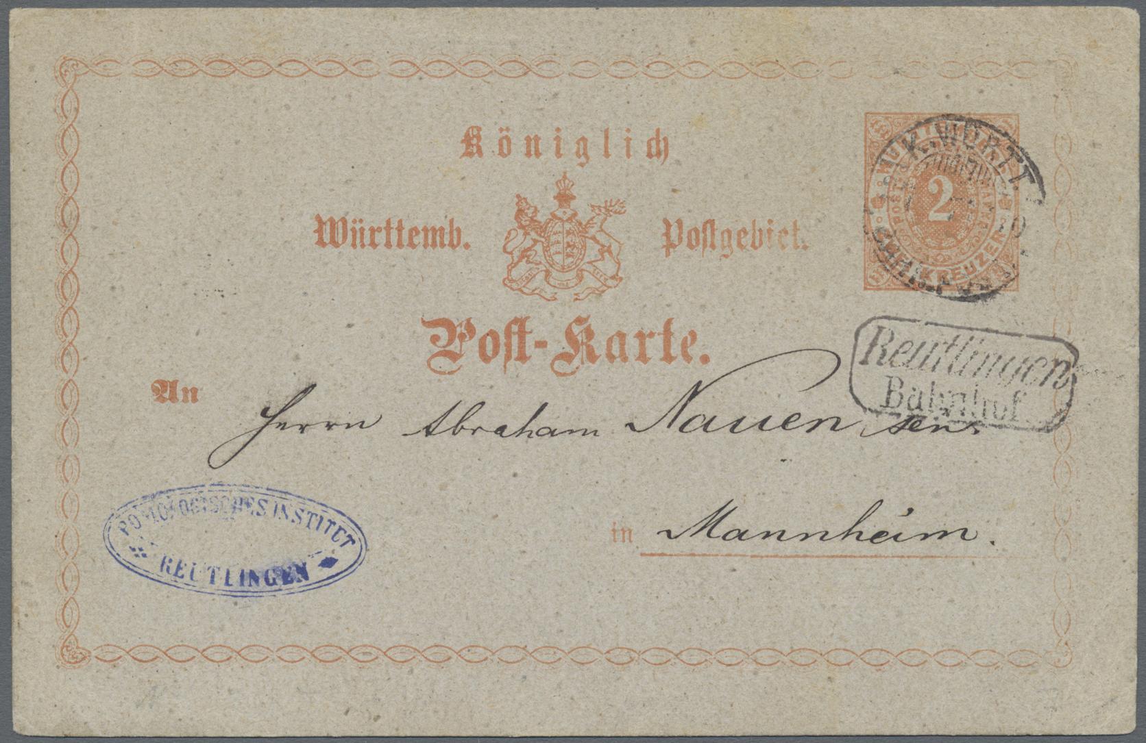 Lot 36360 - Württemberg - Bahnpost  -  Auktionshaus Christoph Gärtner GmbH & Co. KG Sale #44 Collections Germany