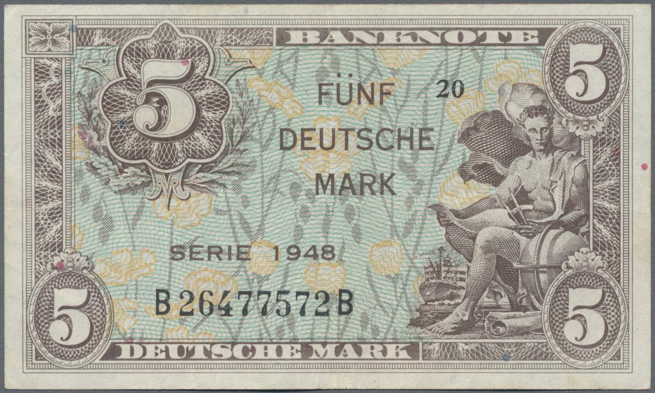 Lot 03397 - Deutschland - Bank Deutscher Länder + Bundesrepublik Deutschland | Banknoten  -  Auktionshaus Christoph Gärtner GmbH & Co. KG Sale #45 Banknotes Germany/Numismatics