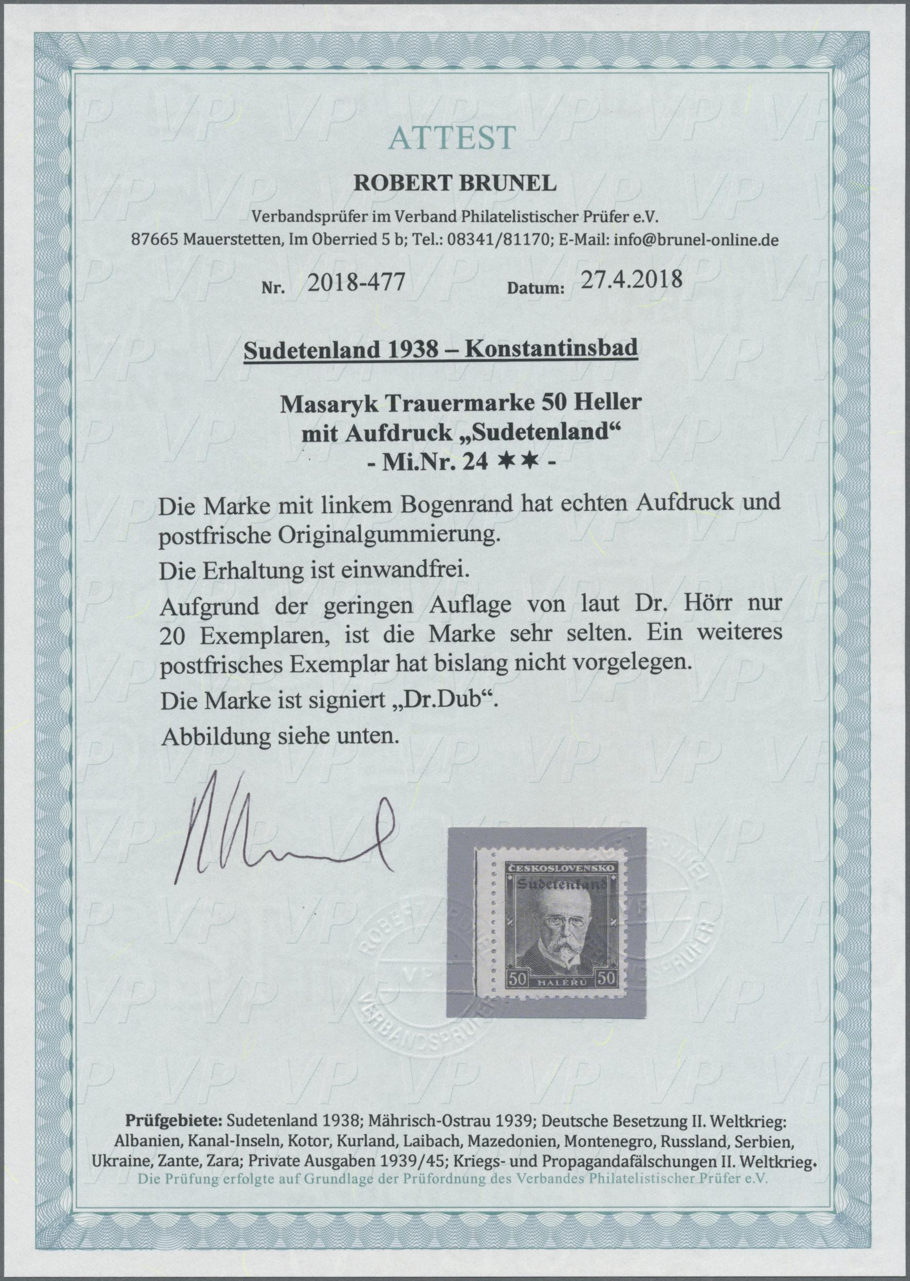 Lot 78 - Sudetenland - Konstantinsbad  -  Auktionshaus Christoph Gärtner GmbH & Co. KG Auction #41 Special auction part one