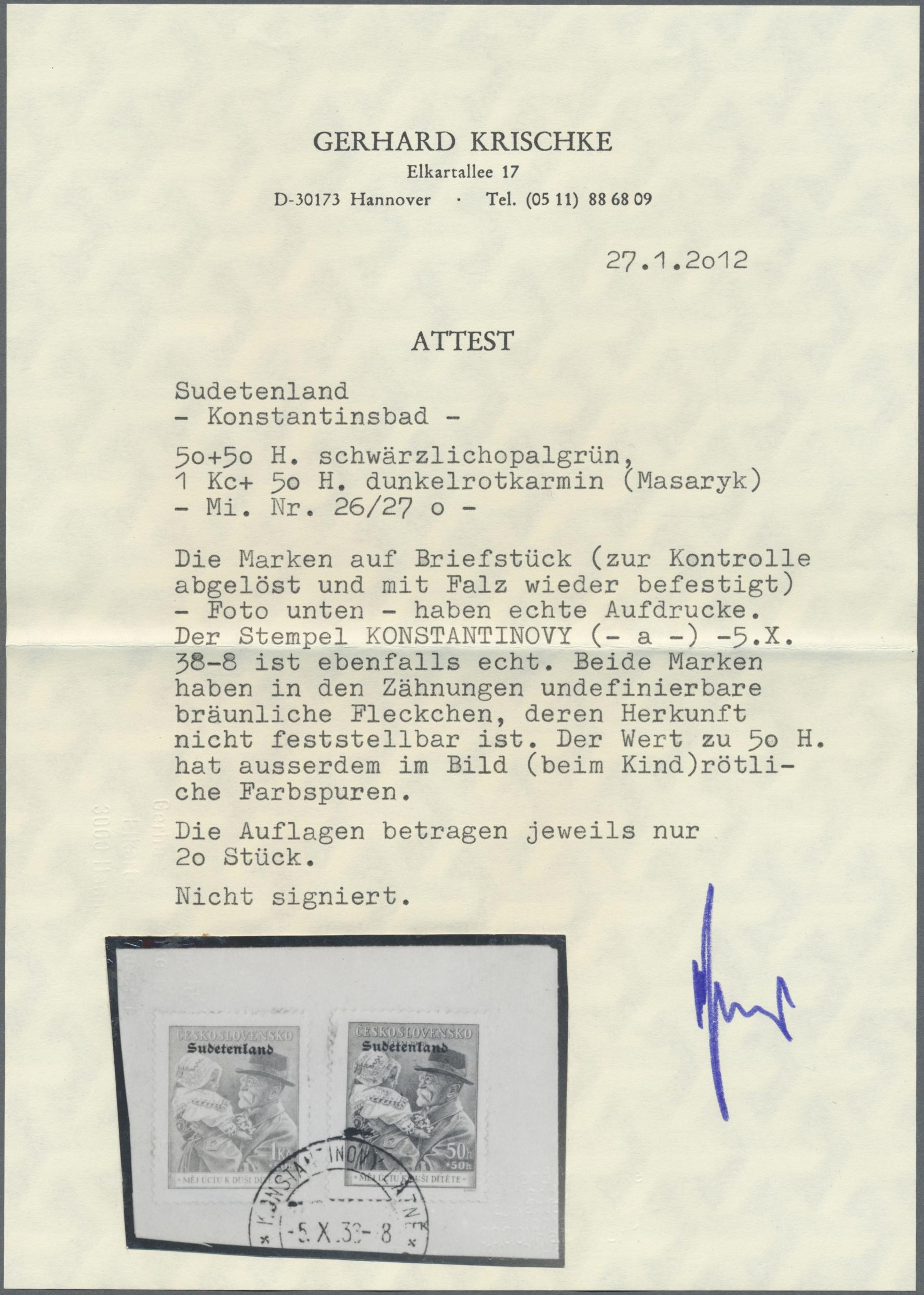 Lot 81 - Sudetenland - Konstantinsbad  -  Auktionshaus Christoph Gärtner GmbH & Co. KG Auction #41 Special auction part one