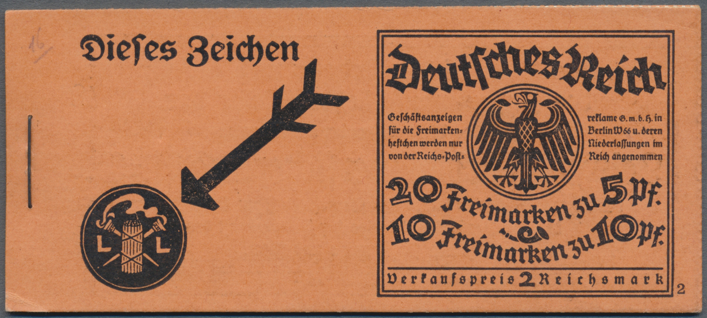 Lot 21609 - Deutsches Reich - Markenheftchen  -  Auktionshaus Christoph Gärtner GmbH & Co. KG Single lots Germany + Picture Postcards. Auction #39 Day 5