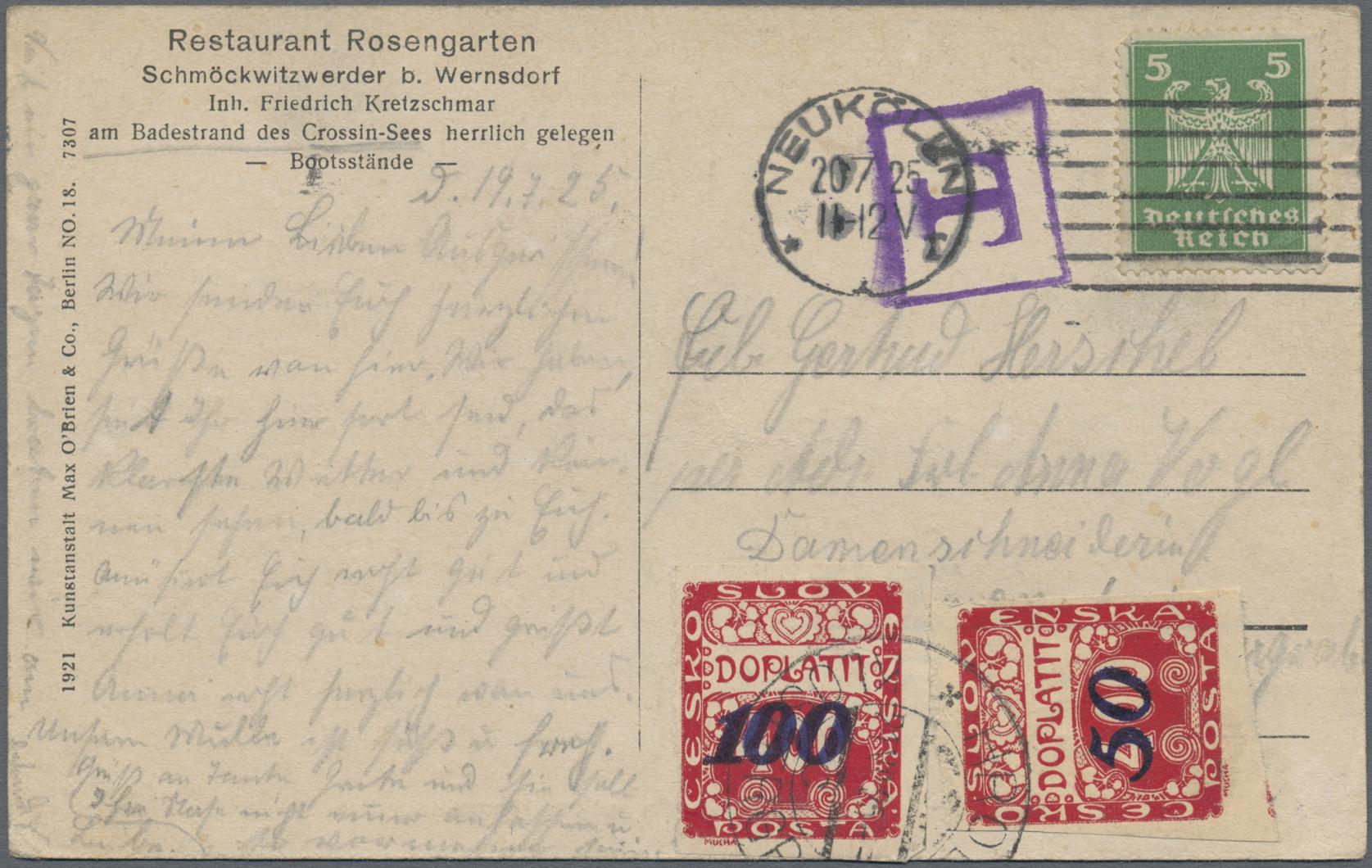 Lot 36885 - Deutsches Reich - Besonderheiten  -  Auktionshaus Christoph Gärtner GmbH & Co. KG Sale #44 Collections Germany