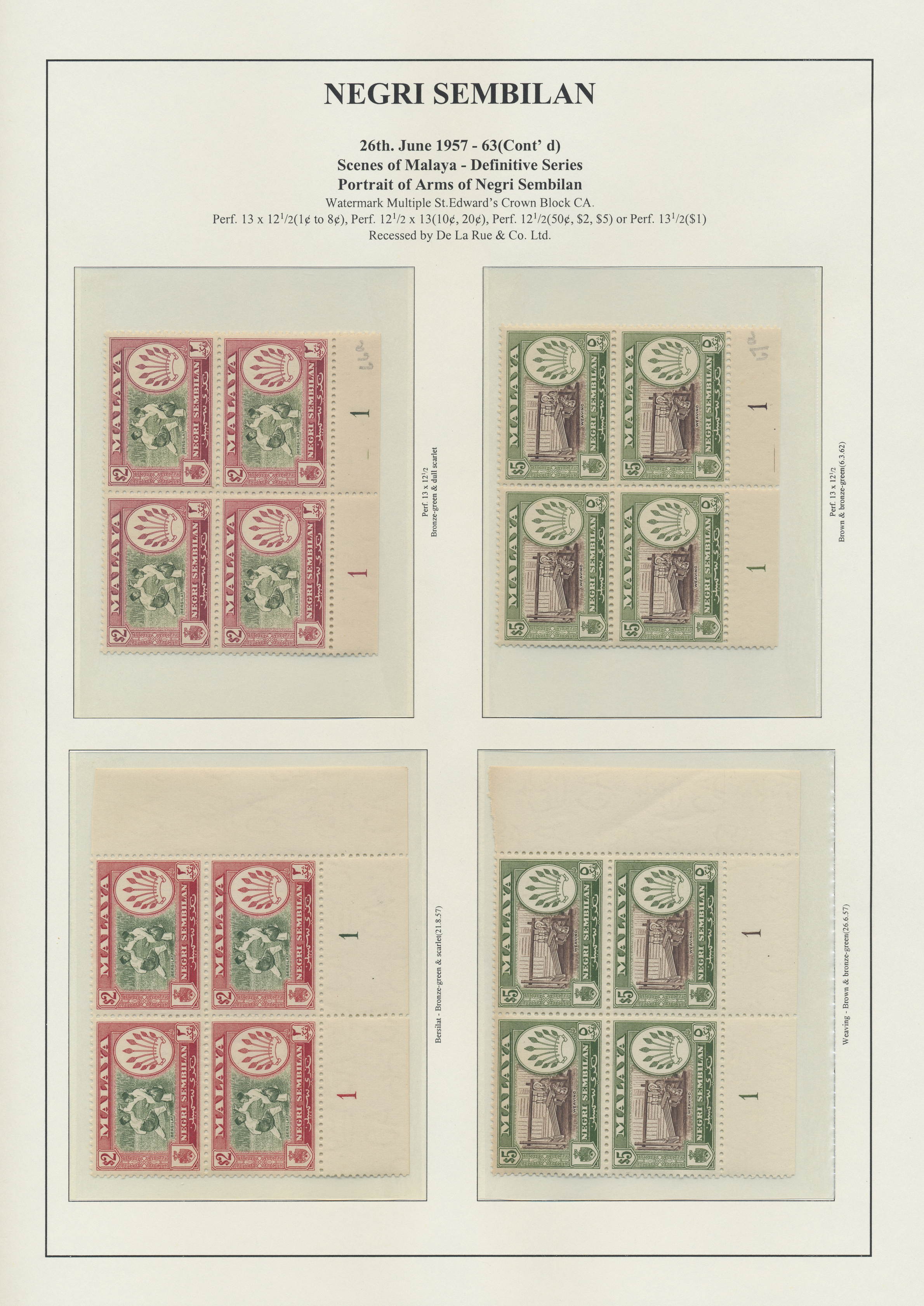 Lot 34571 - Malaiische Staaten - Negri Sembilan  -  Auktionshaus Christoph Gärtner GmbH & Co. KG Collections Germany,  Collections Supplement, Surprise boxes #39 Day 7