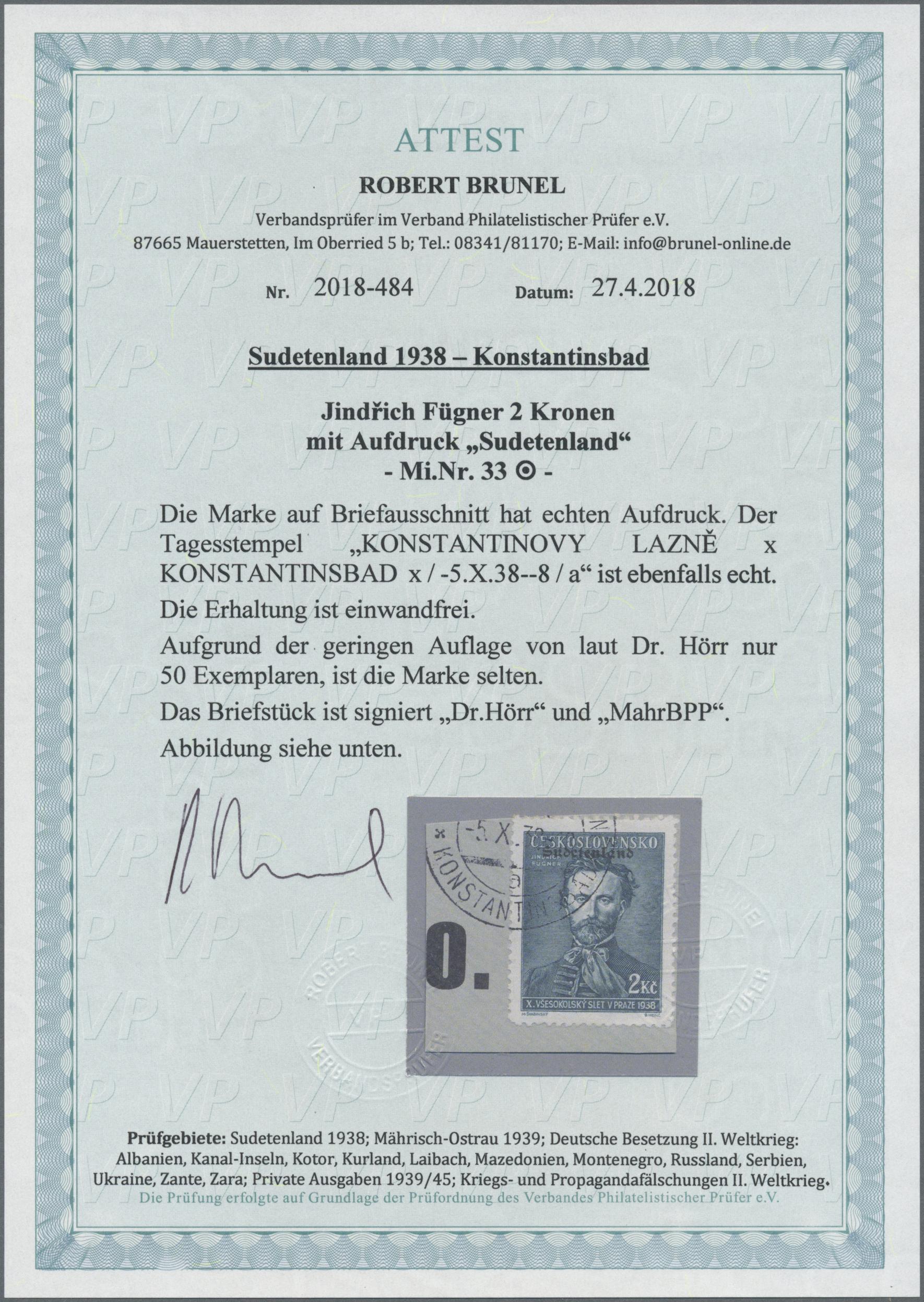 Lot 86 - Sudetenland - Konstantinsbad  -  Auktionshaus Christoph Gärtner GmbH & Co. KG Auction #41 Special auction part one