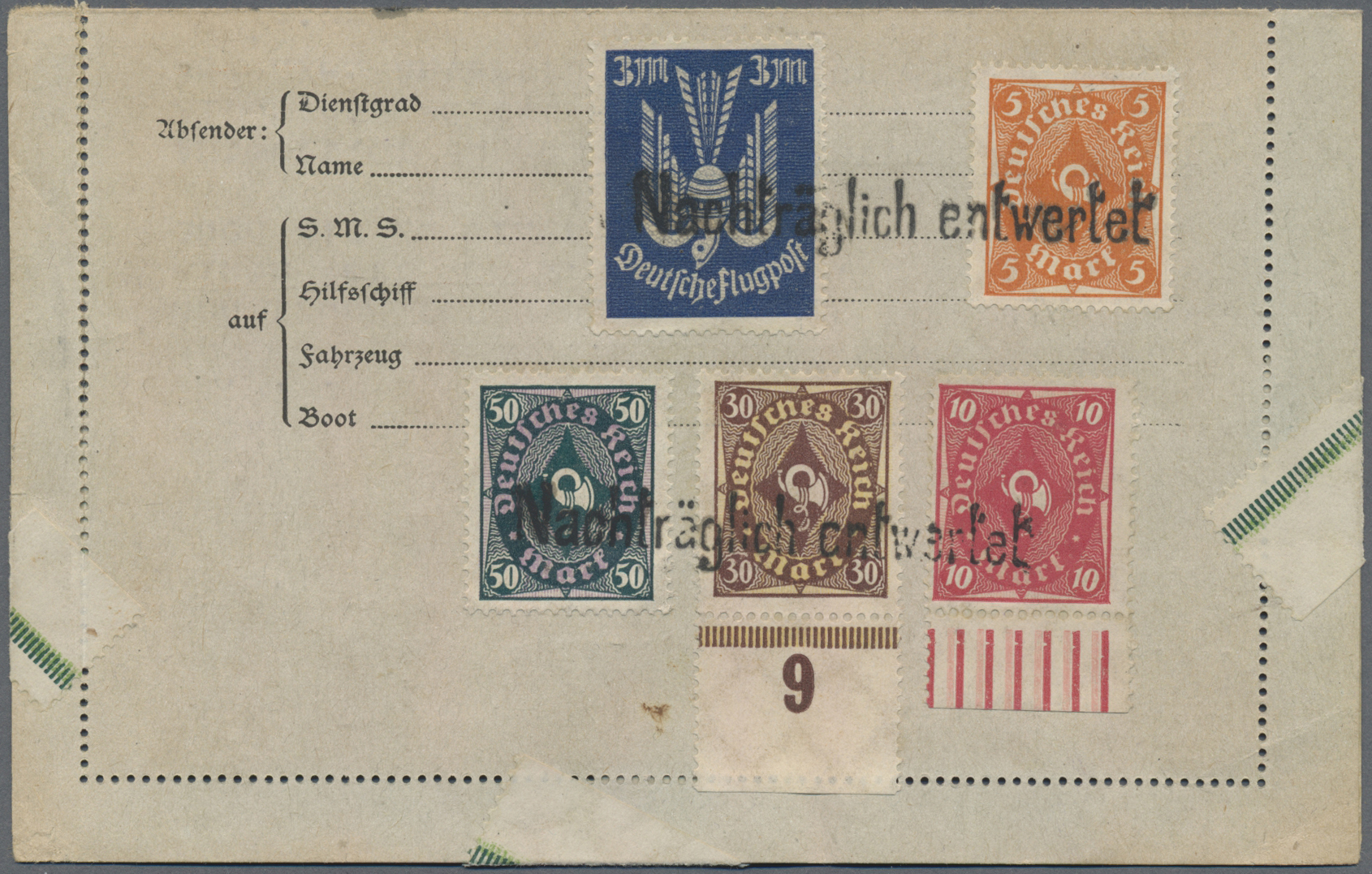 Lot 36857 - deutsches reich - stempel  -  Auktionshaus Christoph Gärtner GmbH & Co. KG Sale #44 Collections Germany