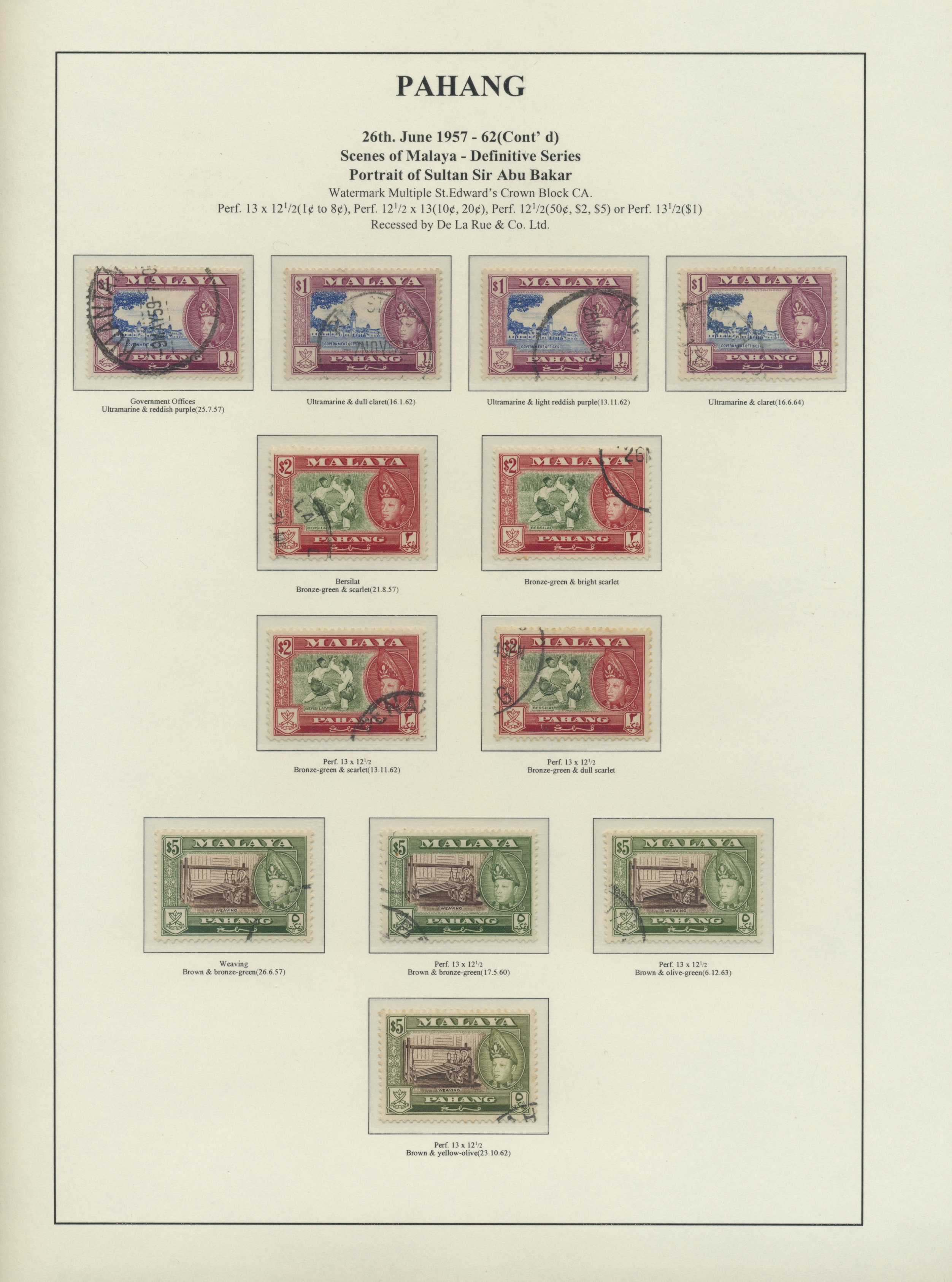 Lot 34573 - Malaiische Staaten - Pahang  -  Auktionshaus Christoph Gärtner GmbH & Co. KG Collections Germany,  Collections Supplement, Surprise boxes #39 Day 7