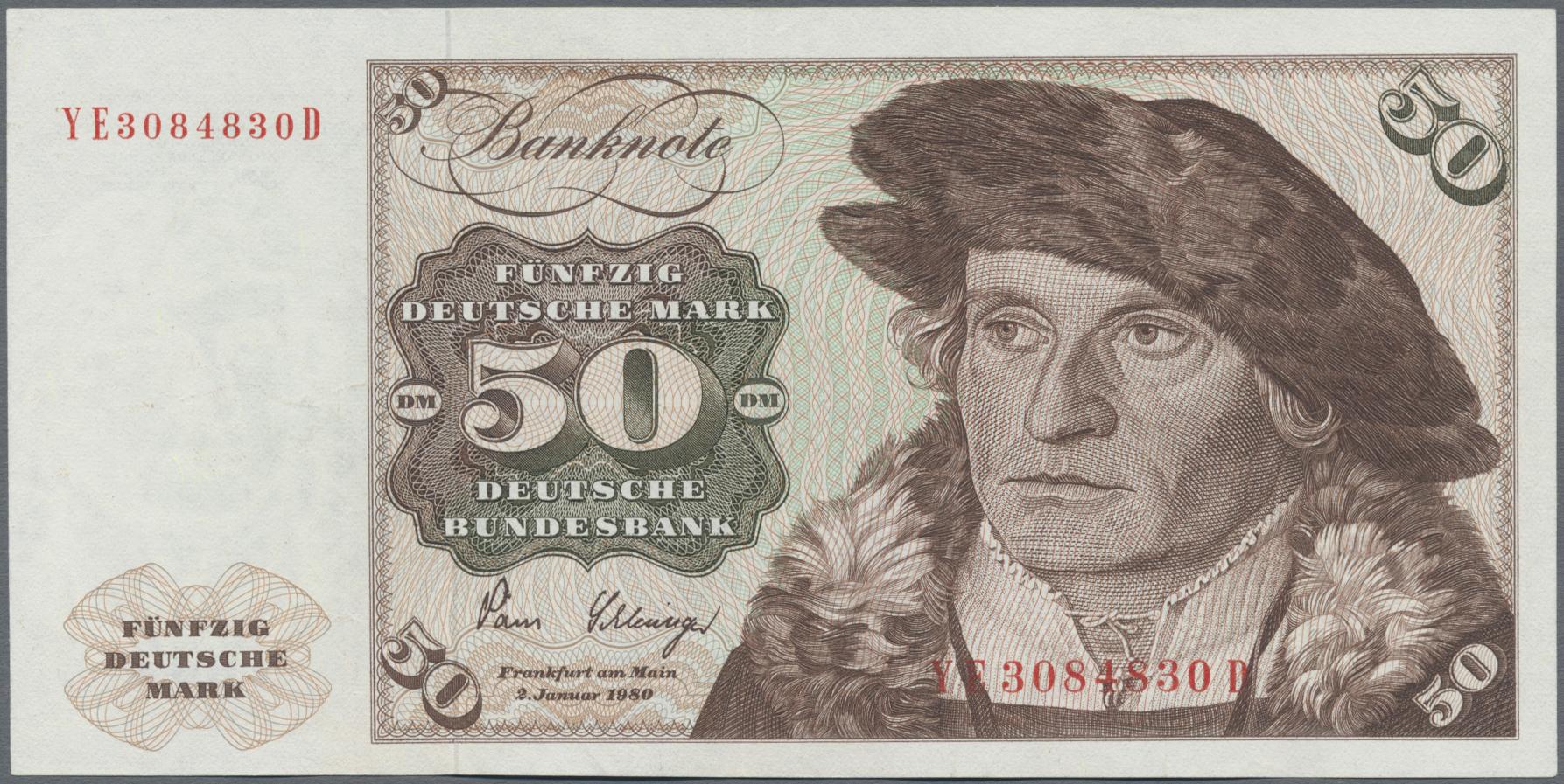 Lot 9841 - Deutschland - Bank Deutscher Länder + Bundesrepublik Deutschland banknoten -  Auktionshaus Christoph Gärtner GmbH & Co. KG Sale #47 Banknotes Worldwide & Germany, Numismatics