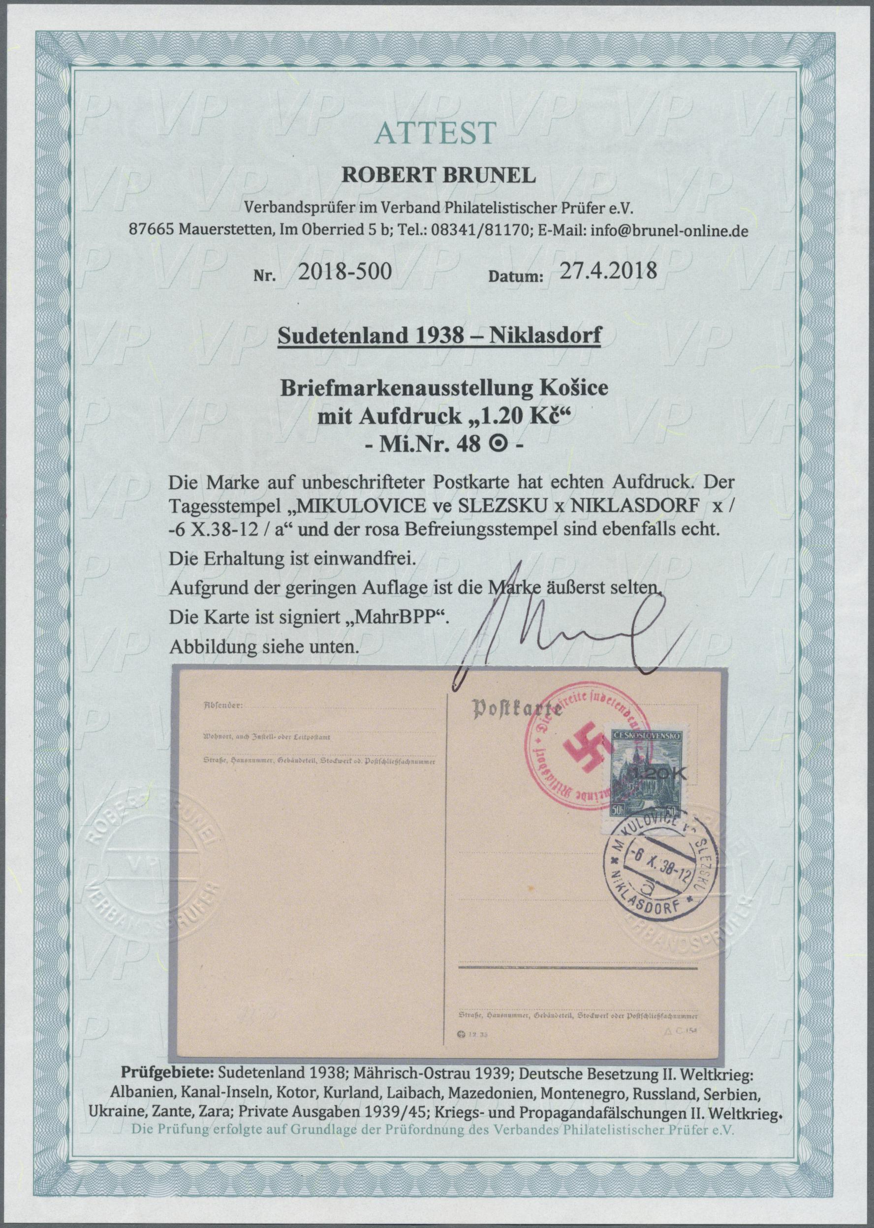 Lot 105 - Sudetenland - Niklasdorf  -  Auktionshaus Christoph Gärtner GmbH & Co. KG Auction #41 Special auction part one