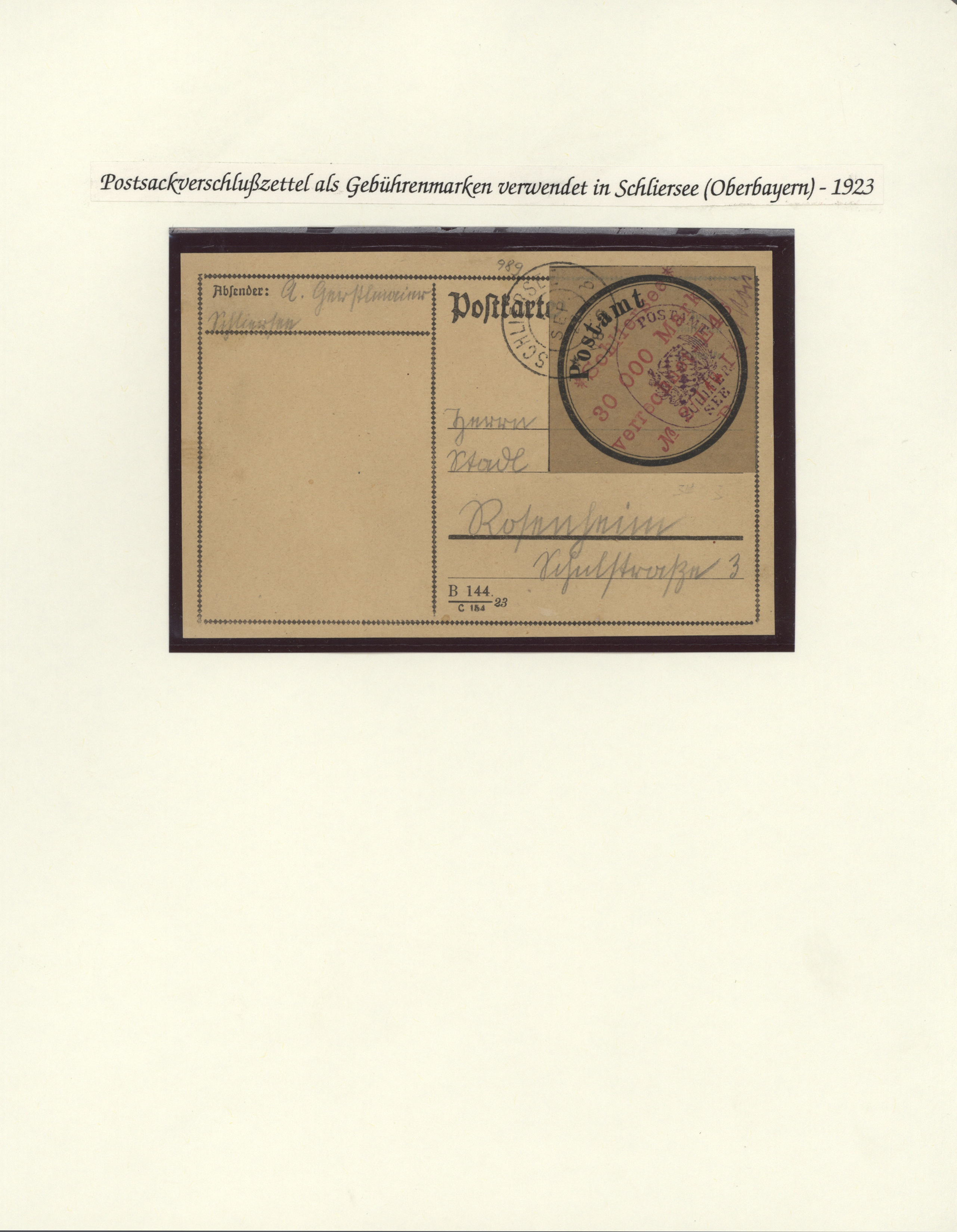 Lot 35015 - Deutsches Reich - Lokalausgaben 1918/23  -  Auktionshaus Christoph Gärtner GmbH & Co. KG Collections Germany,  Collections Supplement, Surprise boxes #39 Day 7