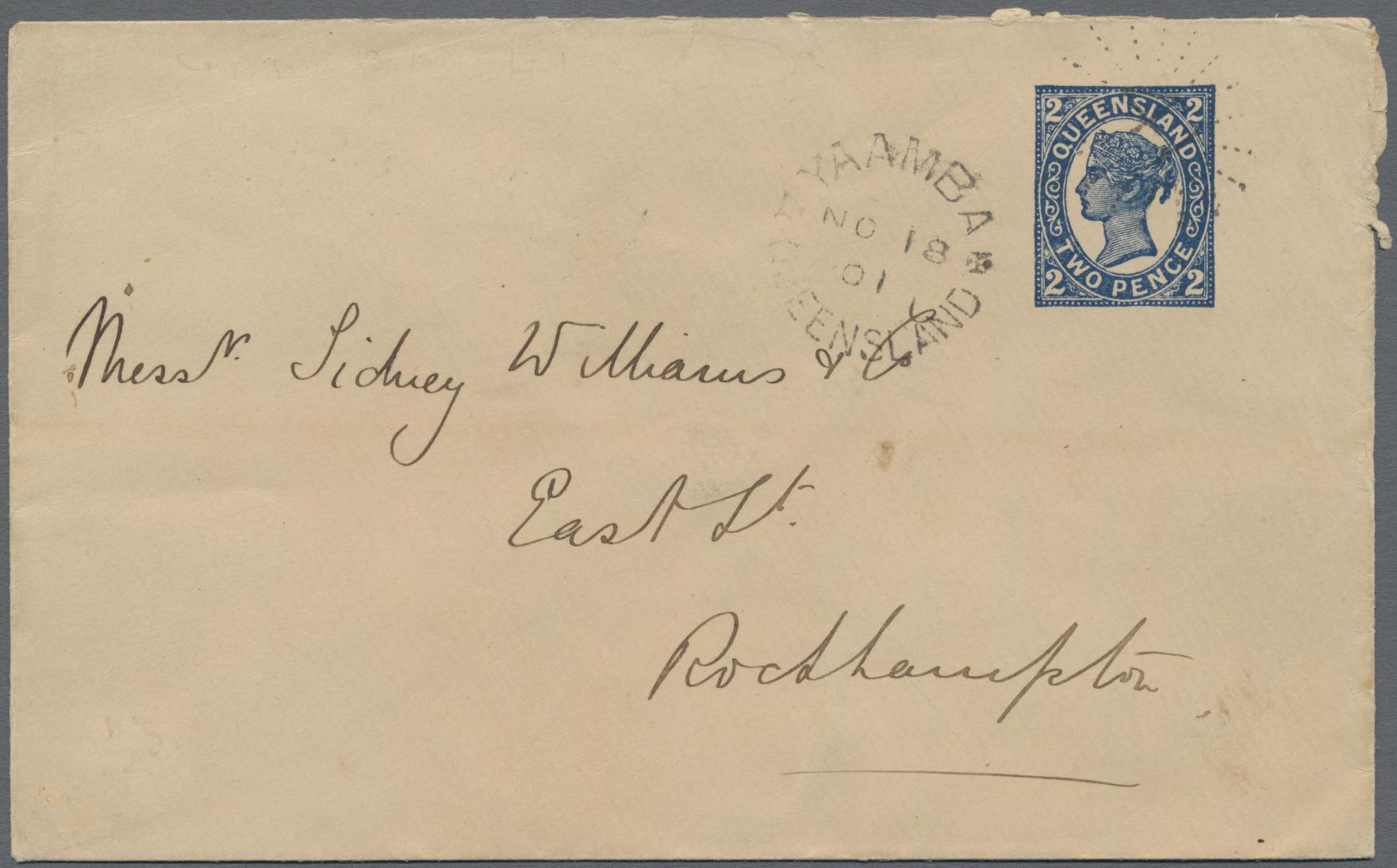 Lot 03122 - Queensland - Ganzsachen  -  Auktionshaus Christoph Gärtner GmbH & Co. KG Sale #49 Special catalogue Australia, USA – Wells Fargo