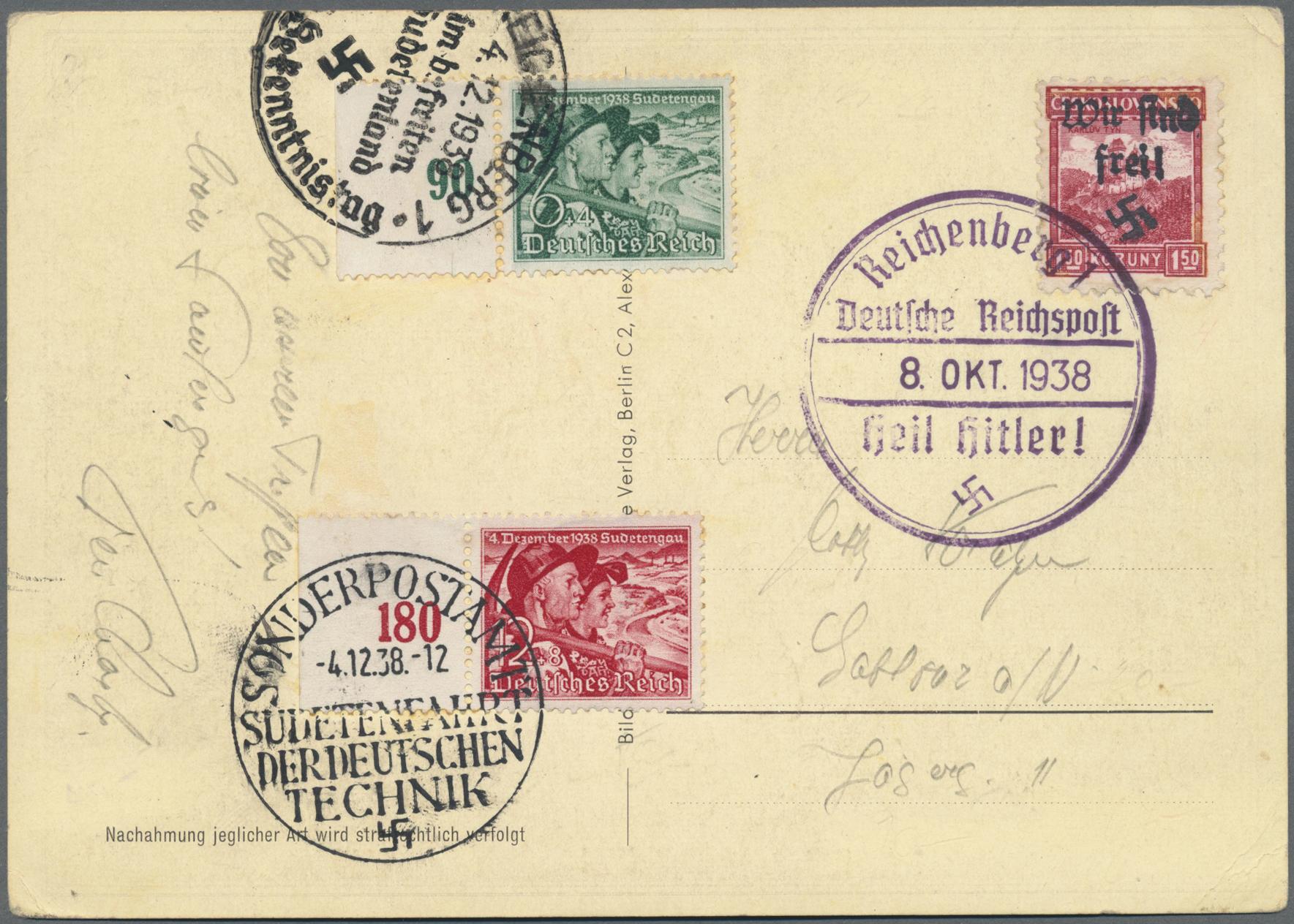 Lot 129 - Sudetenland - Reichenberg  -  Auktionshaus Christoph Gärtner GmbH & Co. KG Auction #41 Special auction part one