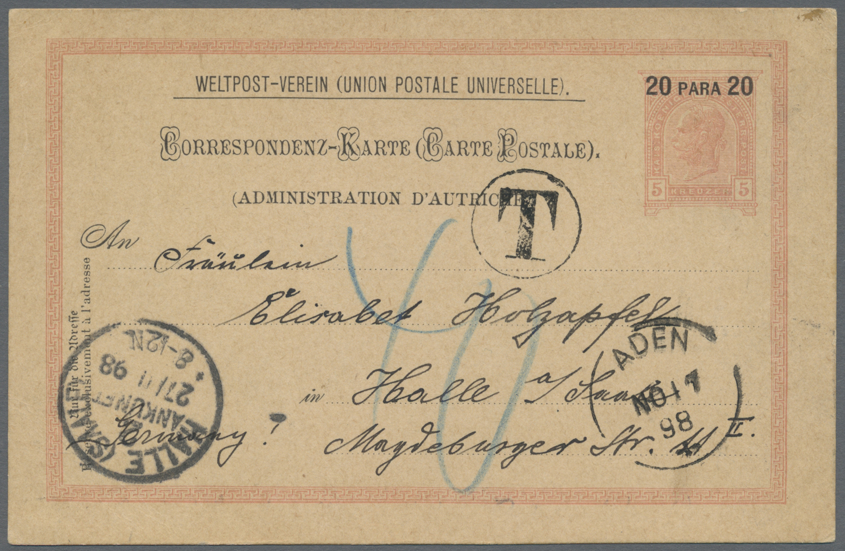 Lot 07120 - aden  -  Auktionshaus Christoph Gärtner GmbH & Co. KG Sale #43 Asia, Overseas, Air & Ships, Mail, Spain, Day 4