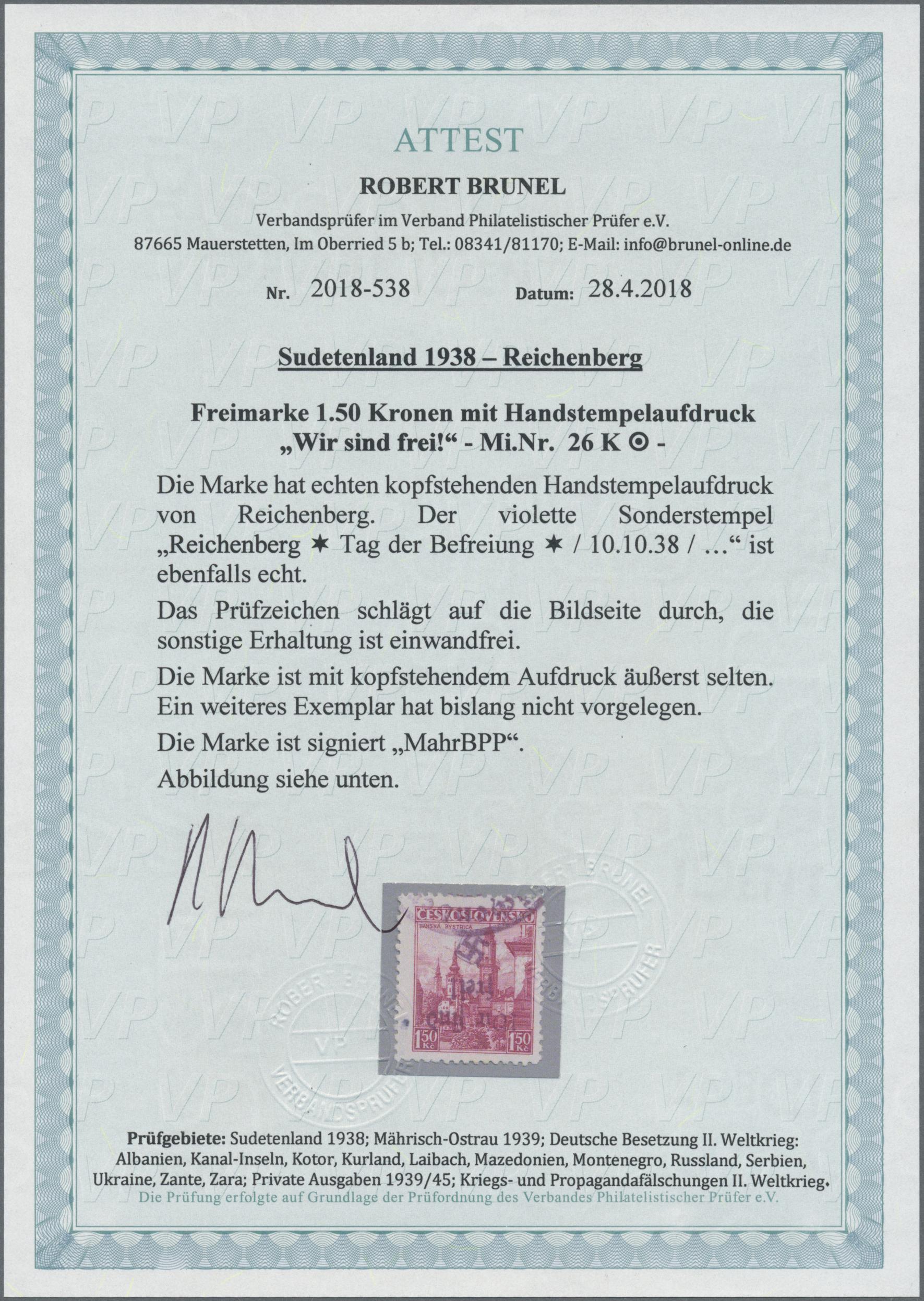 Lot 147 - Sudetenland - Reichenberg  -  Auktionshaus Christoph Gärtner GmbH & Co. KG Auction #41 Special auction part one