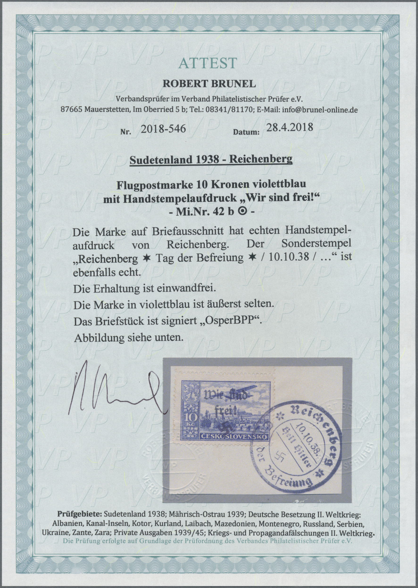 Lot 151 - Sudetenland - Reichenberg  -  Auktionshaus Christoph Gärtner GmbH & Co. KG Auction #41 Special auction part one