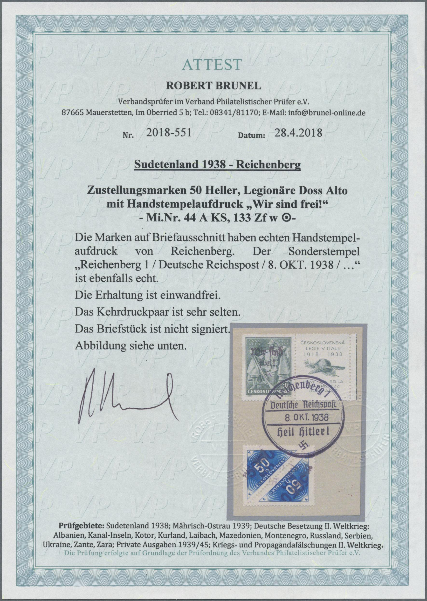 Lot 154 - Sudetenland - Reichenberg  -  Auktionshaus Christoph Gärtner GmbH & Co. KG Auction #41 Special auction part one