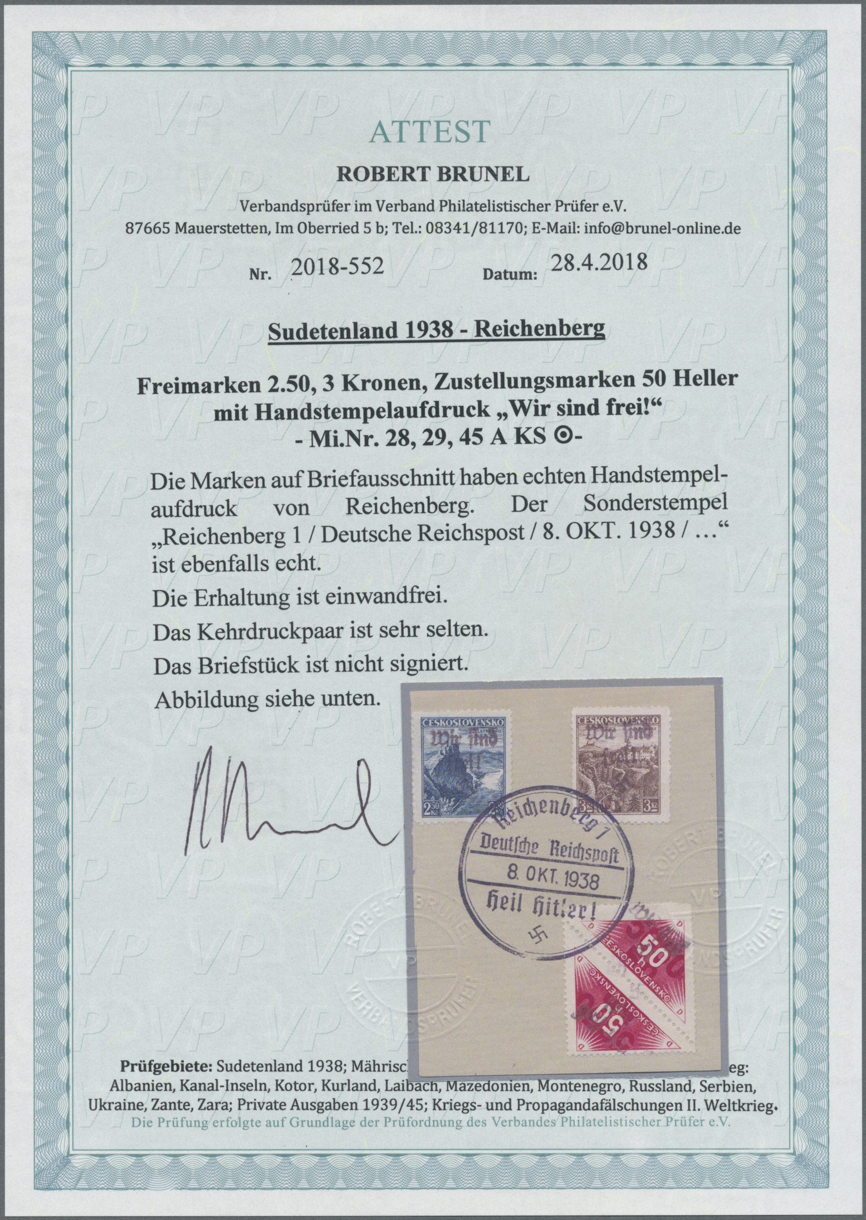 Lot 158 - Sudetenland - Reichenberg  -  Auktionshaus Christoph Gärtner GmbH & Co. KG Auction #41 Special auction part one