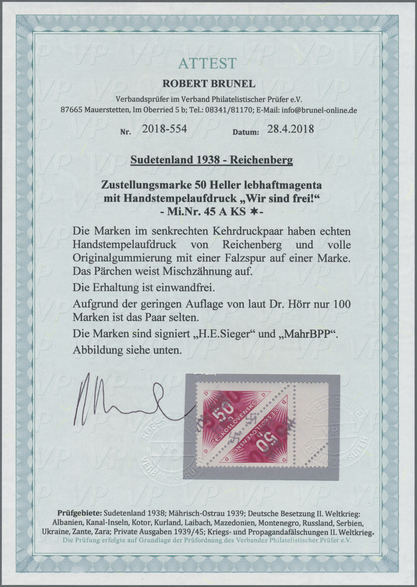Lot 157 - Sudetenland - Reichenberg  -  Auktionshaus Christoph Gärtner GmbH & Co. KG Auction #41 Special auction part one