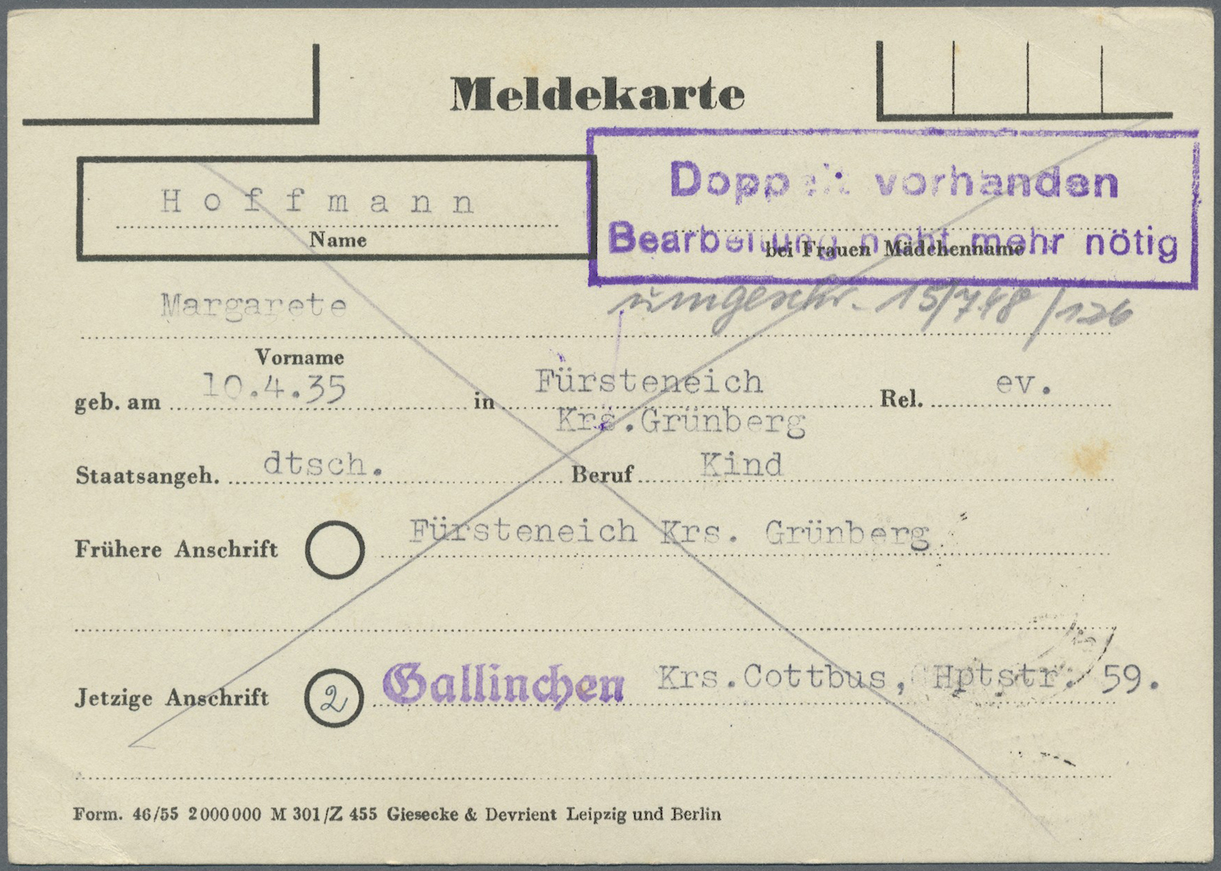 Lot 24255 - Sowjetische Zone - Bezirkshandstempel - VII - Bez. 36 (Potsdam)  -  Auktionshaus Christoph Gärtner GmbH & Co. KG Single lots Germany + Picture Postcards. Auction #39 Day 5