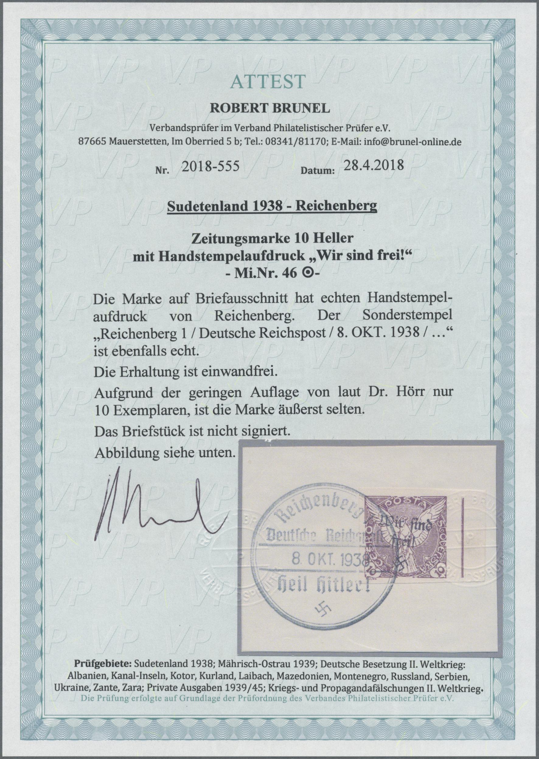 Lot 160 - Sudetenland - Reichenberg  -  Auktionshaus Christoph Gärtner GmbH & Co. KG Auction #41 Special auction part one