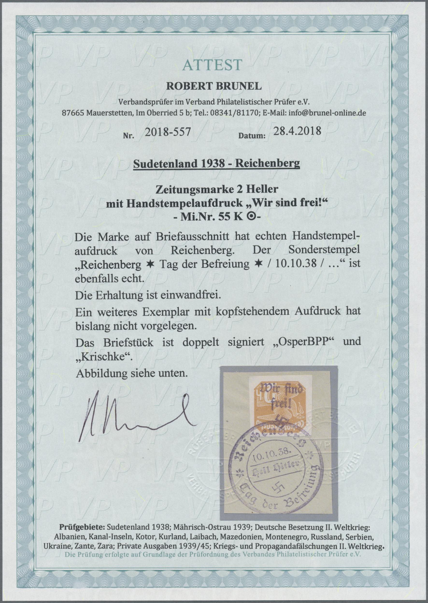 Lot 162 - Sudetenland - Reichenberg  -  Auktionshaus Christoph Gärtner GmbH & Co. KG Auction #41 Special auction part one