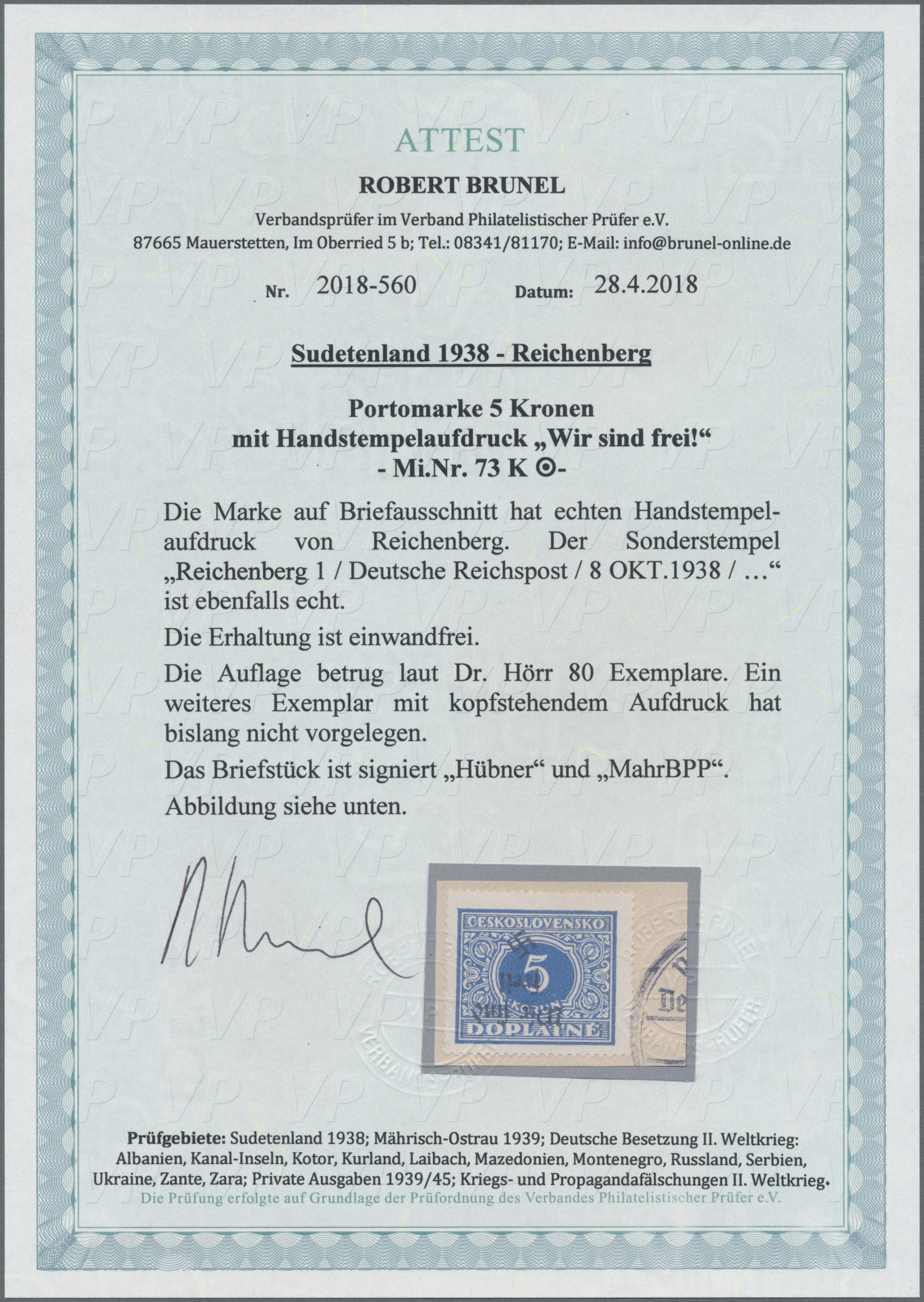 Lot 165 - Sudetenland - Reichenberg  -  Auktionshaus Christoph Gärtner GmbH & Co. KG Auction #41 Special auction part one
