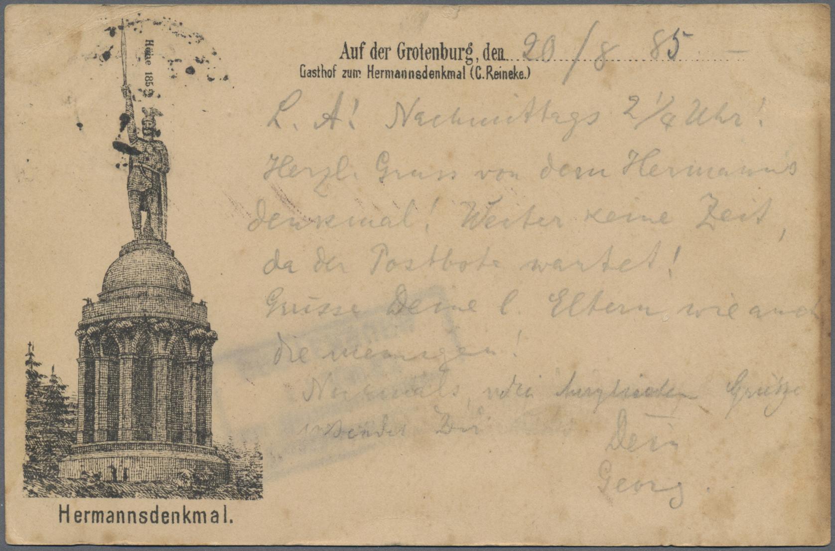 Lot 02582 - Ansichtskarten: Vorläufer  -  Auktionshaus Christoph Gärtner GmbH & Co. KG Special auction