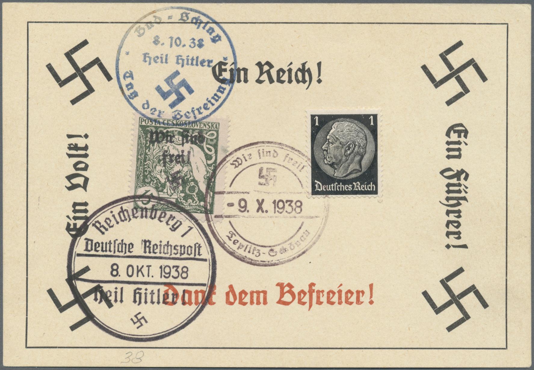 Lot 171 - Sudetenland - Reichenberg  -  Auktionshaus Christoph Gärtner GmbH & Co. KG Auction #41 Special auction part one