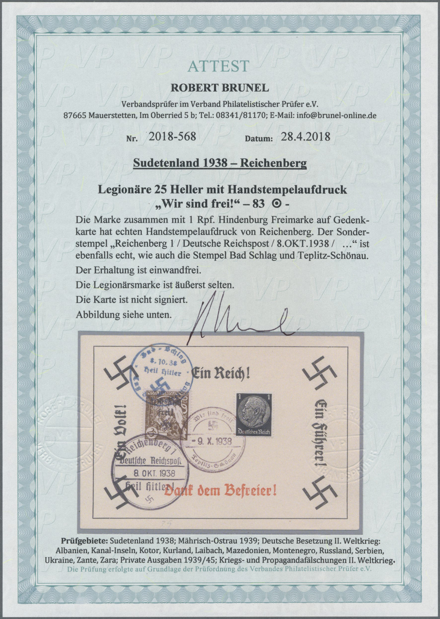 Lot 172 - Sudetenland - Reichenberg  -  Auktionshaus Christoph Gärtner GmbH & Co. KG Auction #41 Special auction part one