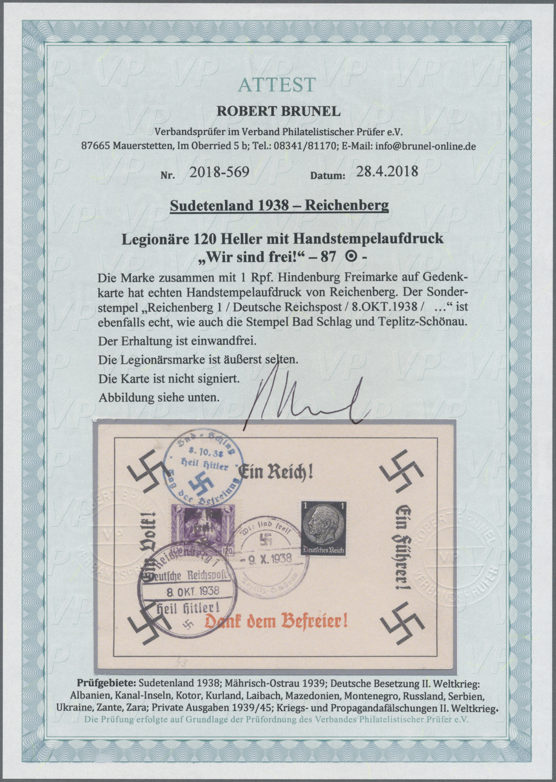 Lot 174 - Sudetenland - Reichenberg  -  Auktionshaus Christoph Gärtner GmbH & Co. KG Auction #41 Special auction part one