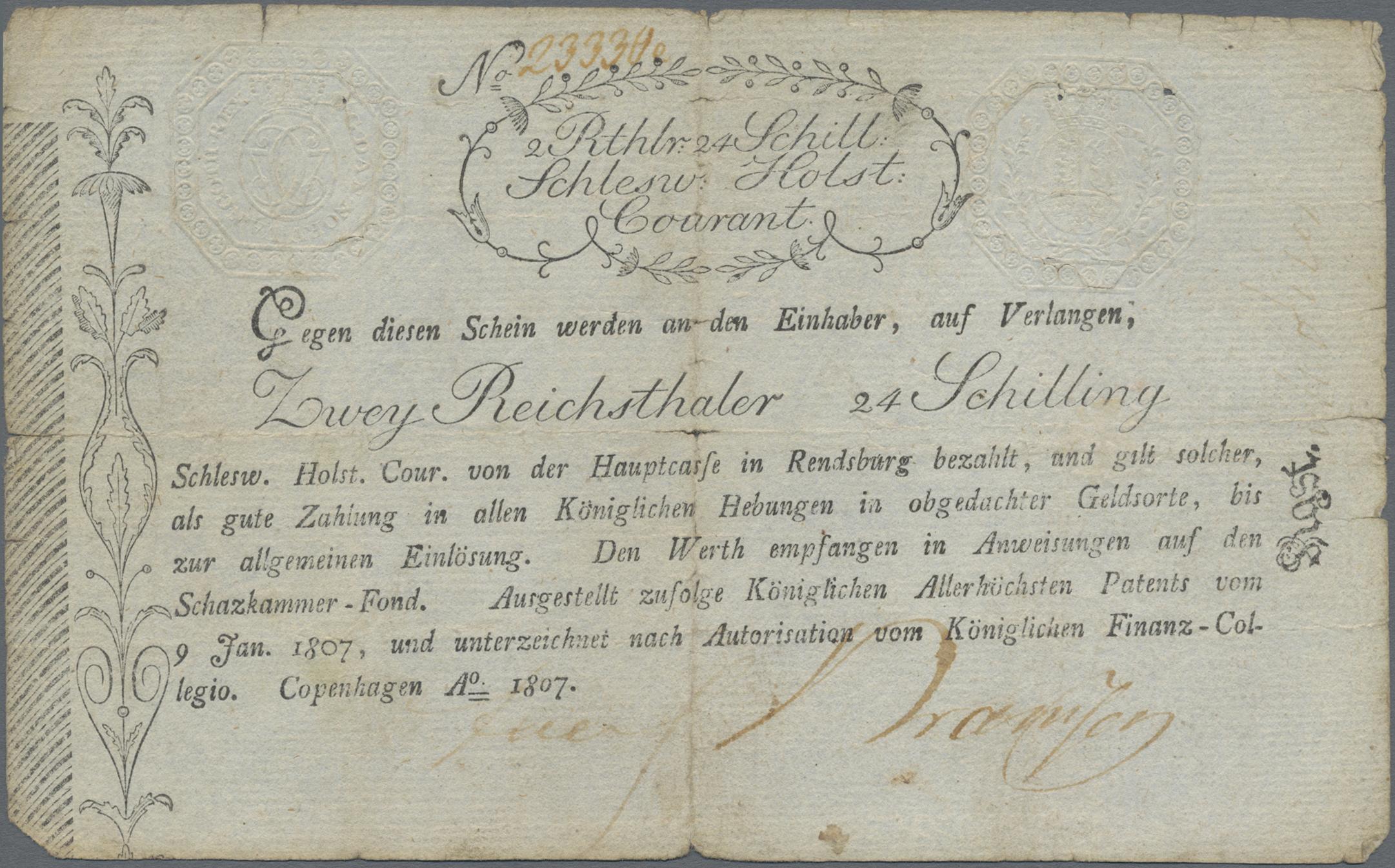 Lot 03310 - Deutschland - Altdeutsche Staaten | Banknoten  -  Auktionshaus Christoph Gärtner GmbH & Co. KG Sale #45 Banknotes Germany/Numismatics