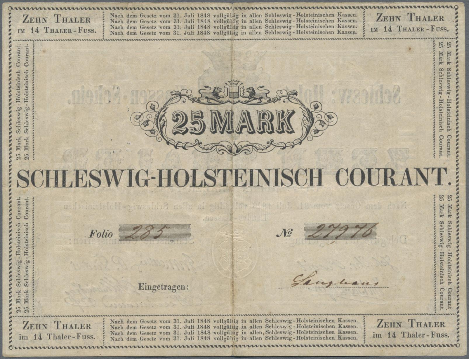 Lot 03311 - Deutschland - Altdeutsche Staaten | Banknoten  -  Auktionshaus Christoph Gärtner GmbH & Co. KG Sale #45 Banknotes Germany/Numismatics