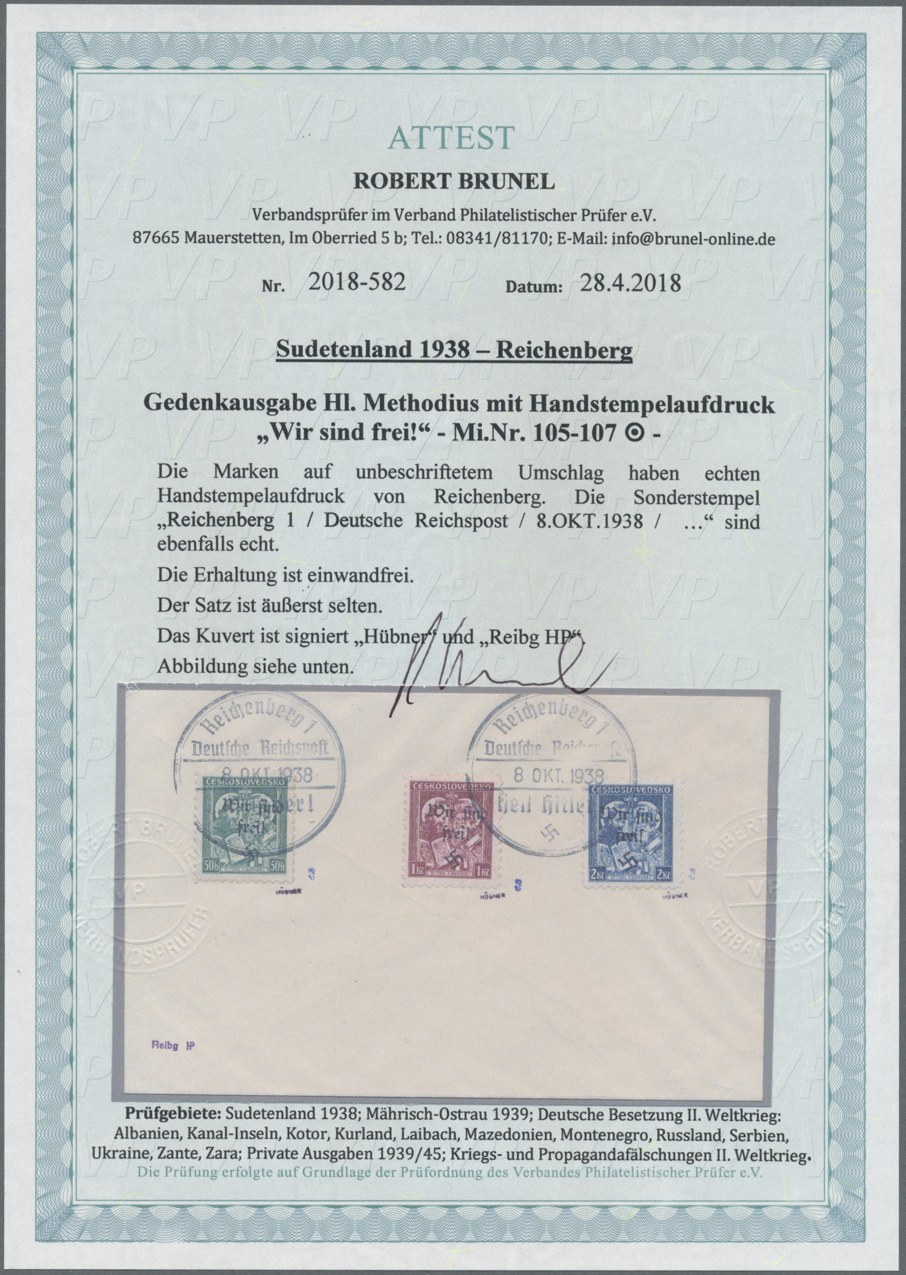 Lot 11664 - Sudetenland - Reichenberg  -  Auktionshaus Christoph Gärtner GmbH & Co. KG Sale #48 The Single Lots Philatelie