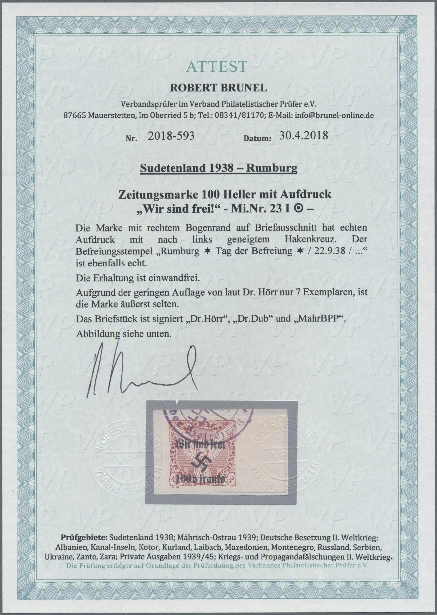 Lot 198 - sudetenland - rumburg  -  Auktionshaus Christoph Gärtner GmbH & Co. KG Auction #41 Special auction part one