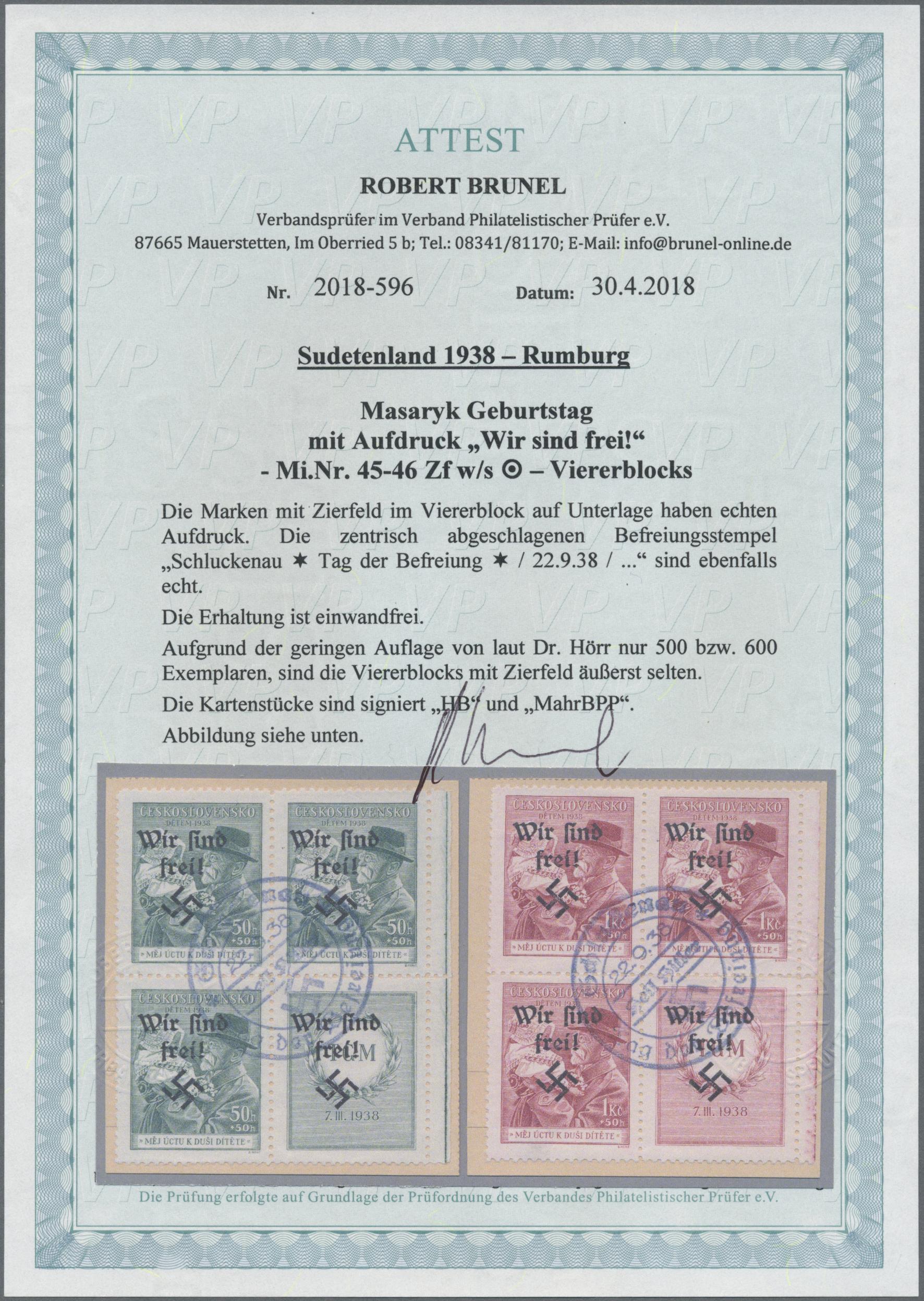Lot 201 - sudetenland - rumburg  -  Auktionshaus Christoph Gärtner GmbH & Co. KG Auction #41 Special auction part one