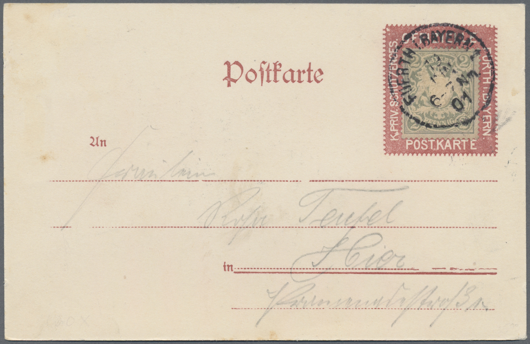Lot 28172 - Bayern - Marken und Briefe  -  Auktionshaus Christoph Gärtner GmbH & Co. KG Sale #46 Gollcetions Germany - including the suplement