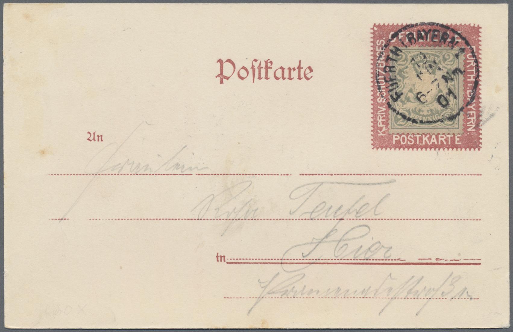 Lot 36175 - Bayern - Marken und Briefe  -  Auktionshaus Christoph Gärtner GmbH & Co. KG Sale #44 Collections Germany