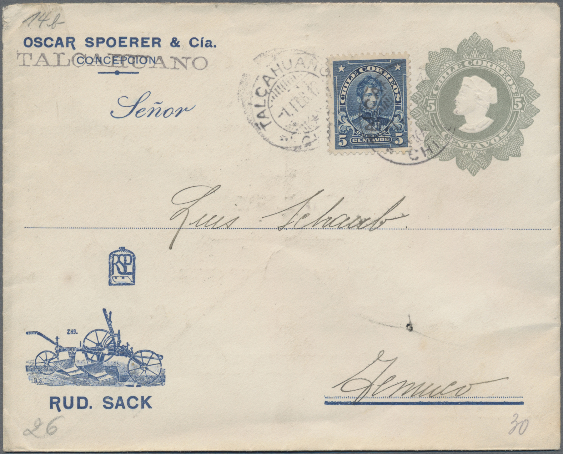 Lot 00817 - Chile - Ganzsachen  -  Auktionshaus Christoph Gärtner GmbH & Co. KG Special auction