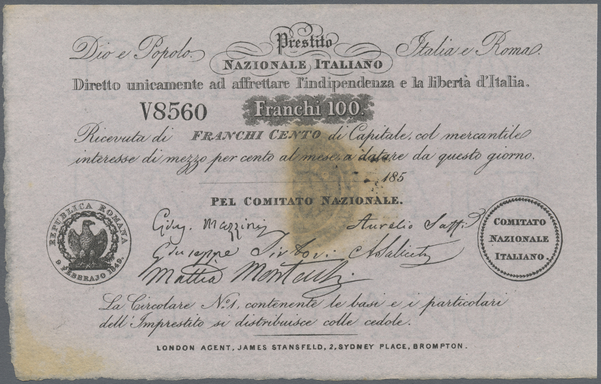 Lot 00468 - Italy / Italien | Banknoten  -  Auktionshaus Christoph Gärtner GmbH & Co. KG Sale #48 The Banknotes