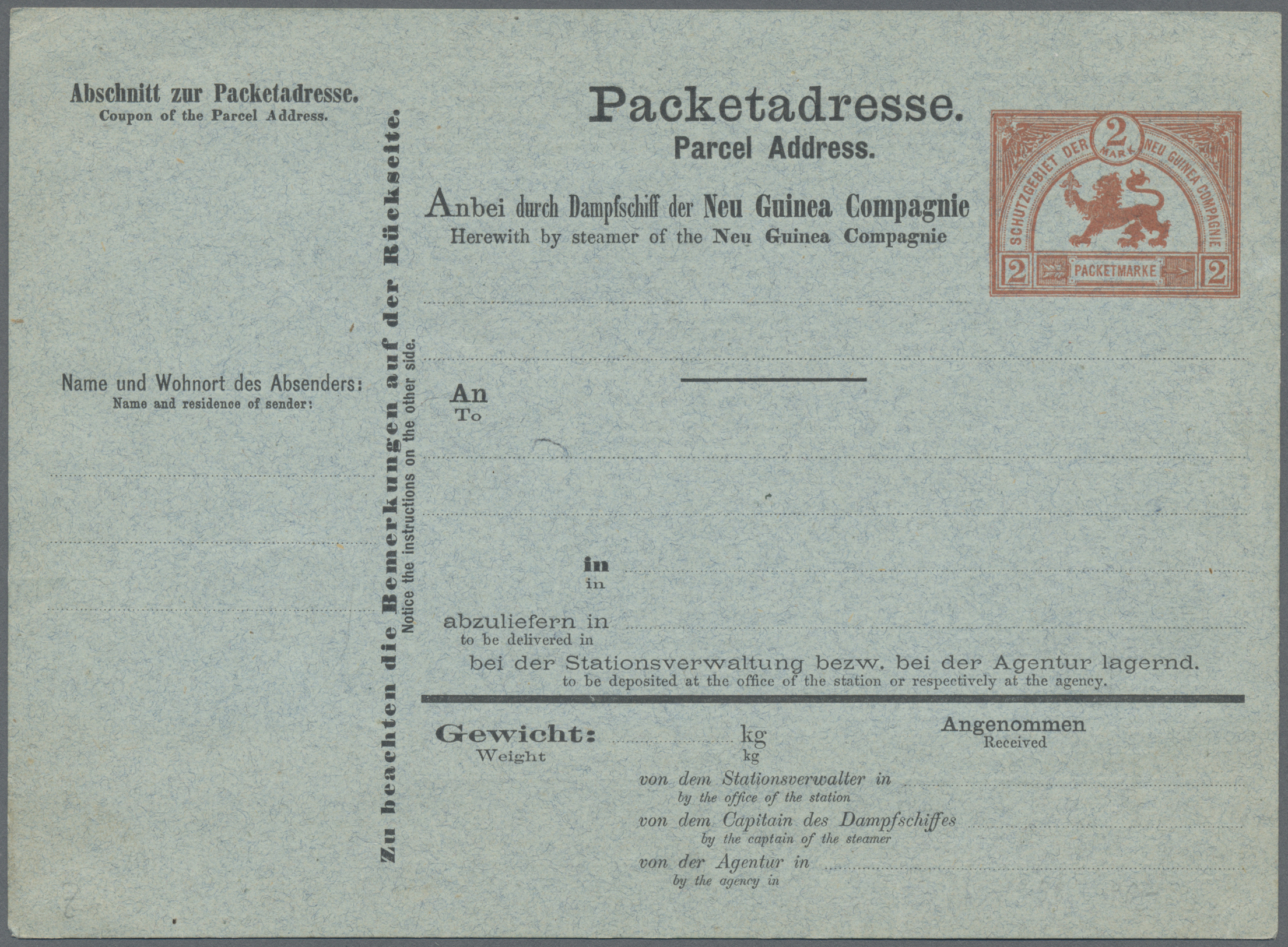Lot 28796 - deutsch-neuguinea  -  Auktionshaus Christoph Gärtner GmbH & Co. KG Sale #46 Gollcetions Germany - including the suplement