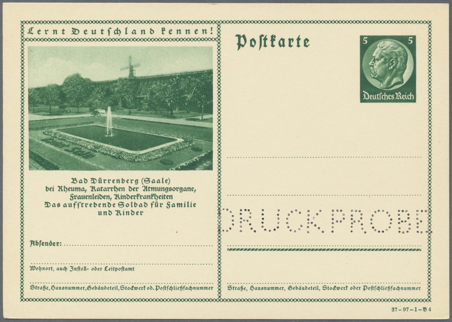 Lot 28729 - Deutsches Reich - Ganzsachen  -  Auktionshaus Christoph Gärtner GmbH & Co. KG Sale #46 Gollcetions Germany - including the suplement