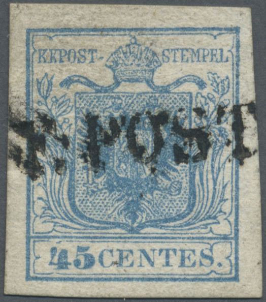 Lot 09592A - Österreich - Lombardei und Venetien - Stempel  -  Auktionshaus Christoph Gärtner GmbH & Co. KG Sale #48 The Single Lots Philatelie