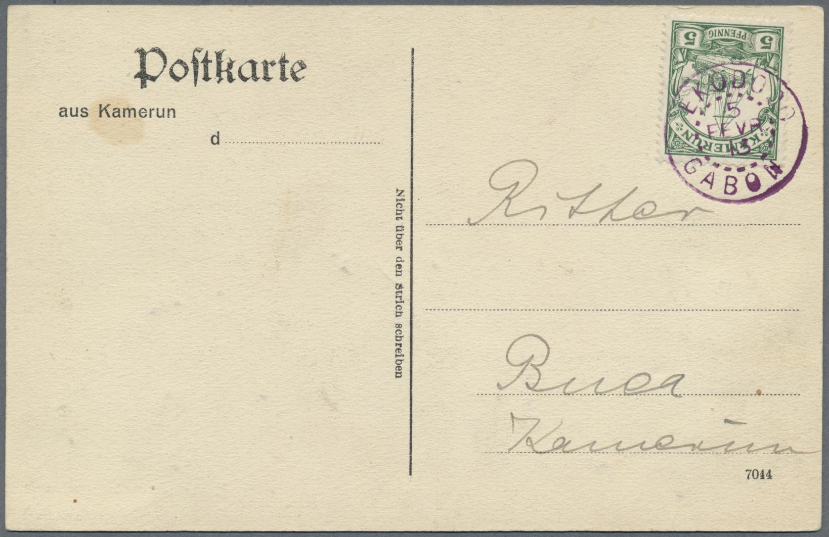 Lot 22431 - Deutsche Kolonien - Kamerun - Stempel  -  Auktionshaus Christoph Gärtner GmbH & Co. KG Single lots Germany + Picture Postcards. Auction #39 Day 5