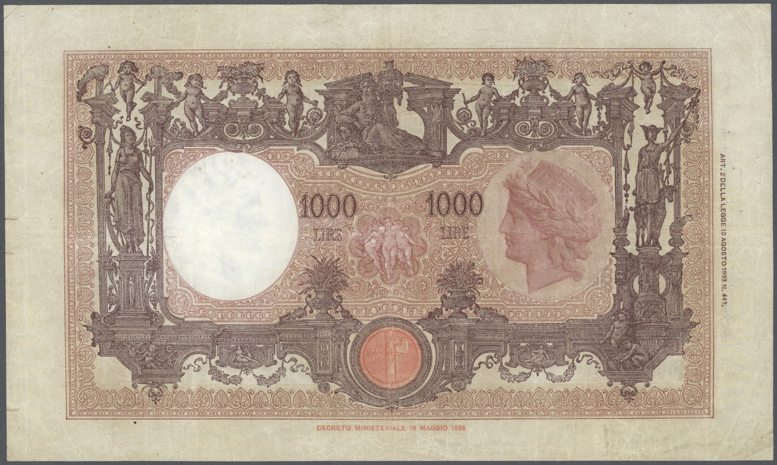 Lot 00454 - Italy / Italien | Banknoten  -  Auktionshaus Christoph Gärtner GmbH & Co. KG Sale #48 The Banknotes