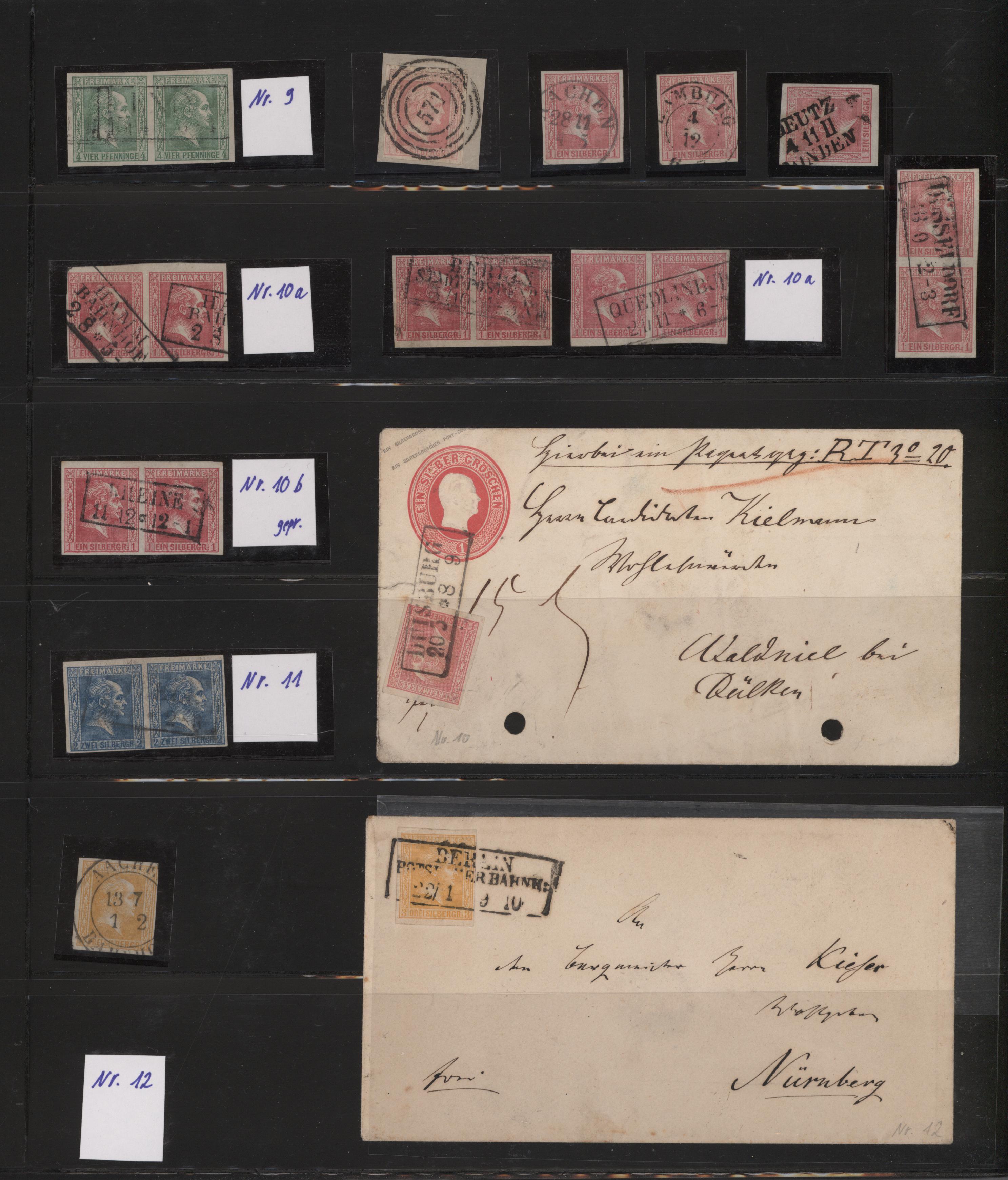 Lot 22890 - Preußen - Marken und Briefe  -  Auktionshaus Christoph Gärtner GmbH & Co. KG 50th Auction Anniversary Auction - Day 7