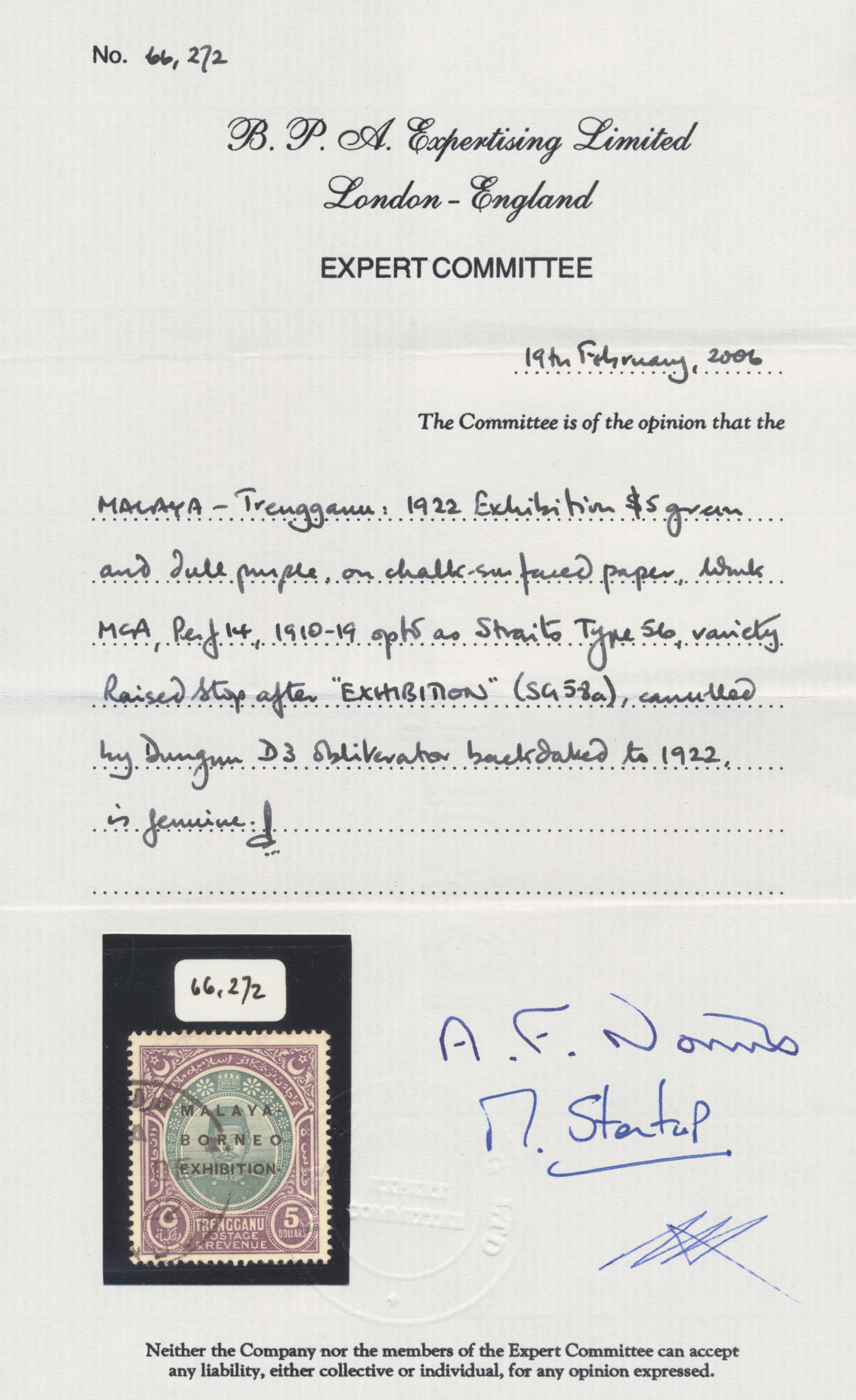 Lot 10134 - Malaiische Staaten - Trengganu  -  Auktionshaus Christoph Gärtner GmbH & Co. KG Philately: ASIA single lots including Special Catalog Malaya Auction #39 Day 3