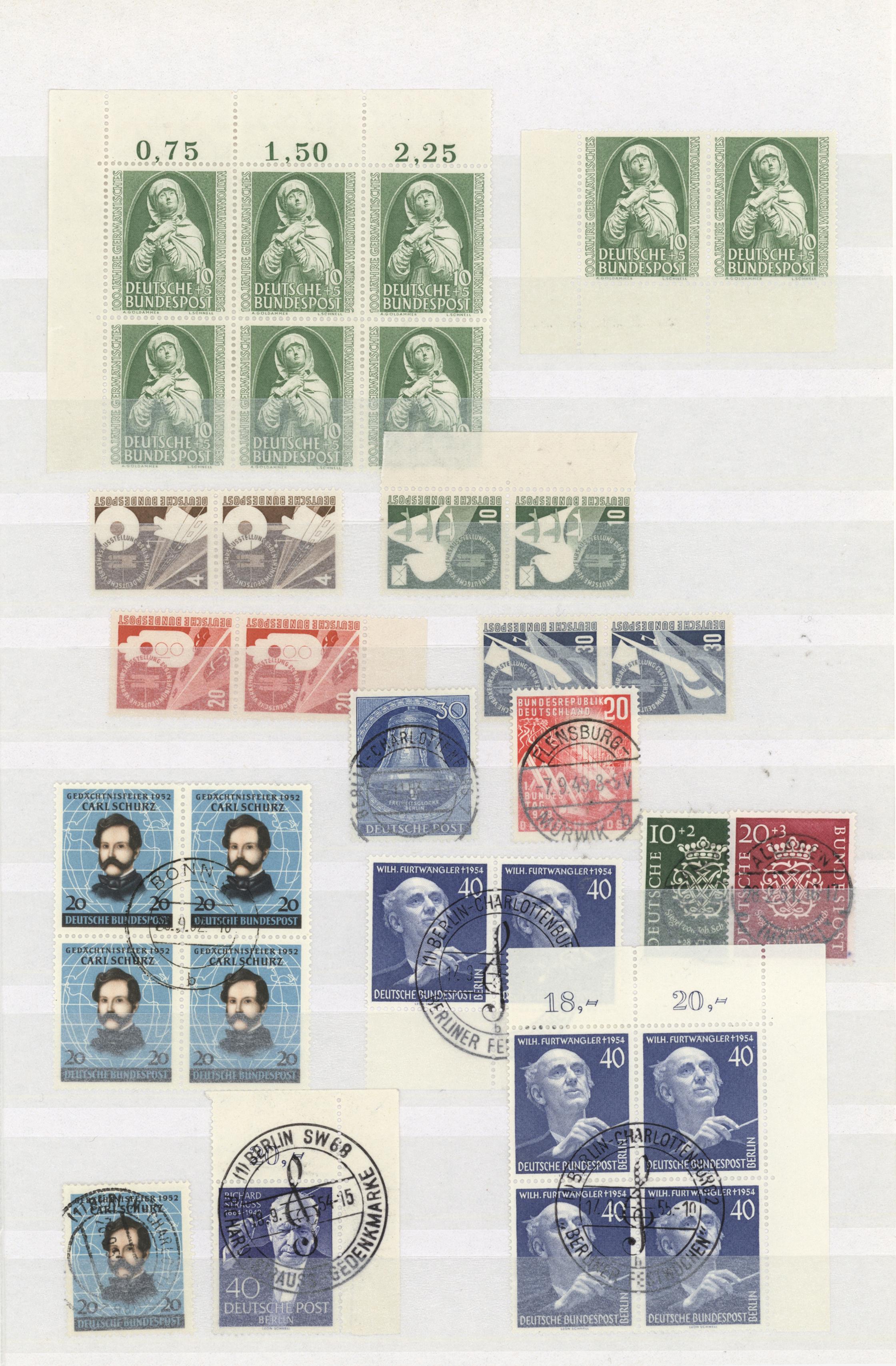Lot 38083 - bundesrepublik und berlin  -  Auktionshaus Christoph Gärtner GmbH & Co. KG Collections Germany,  Collections Supplement, Surprise boxes #39 Day 7