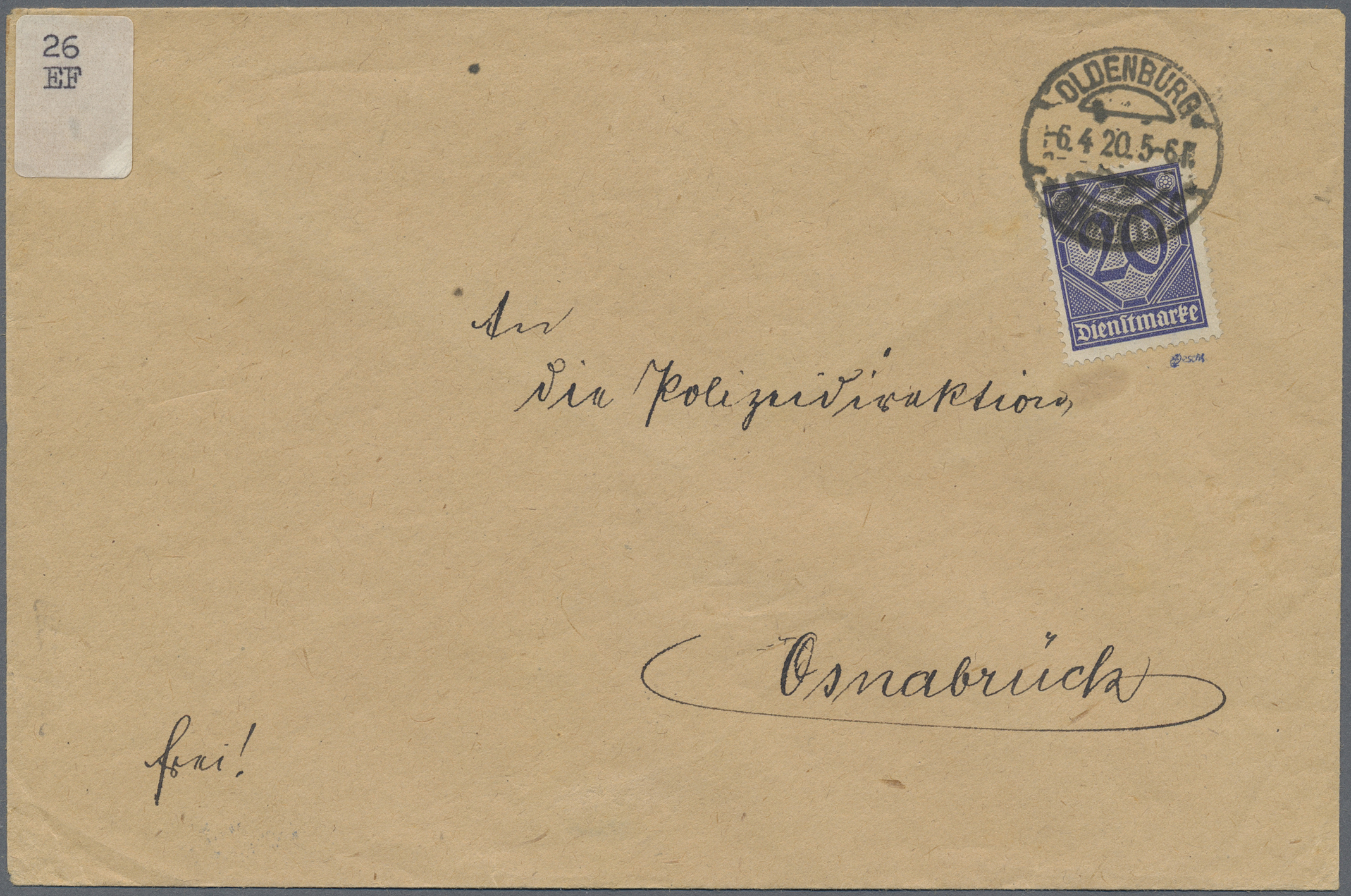 Lot 37049 - Deutsches Reich - Dienstmarken  -  Auktionshaus Christoph Gärtner GmbH & Co. KG Collections Germany,  Collections Supplement, Surprise boxes #39 Day 7