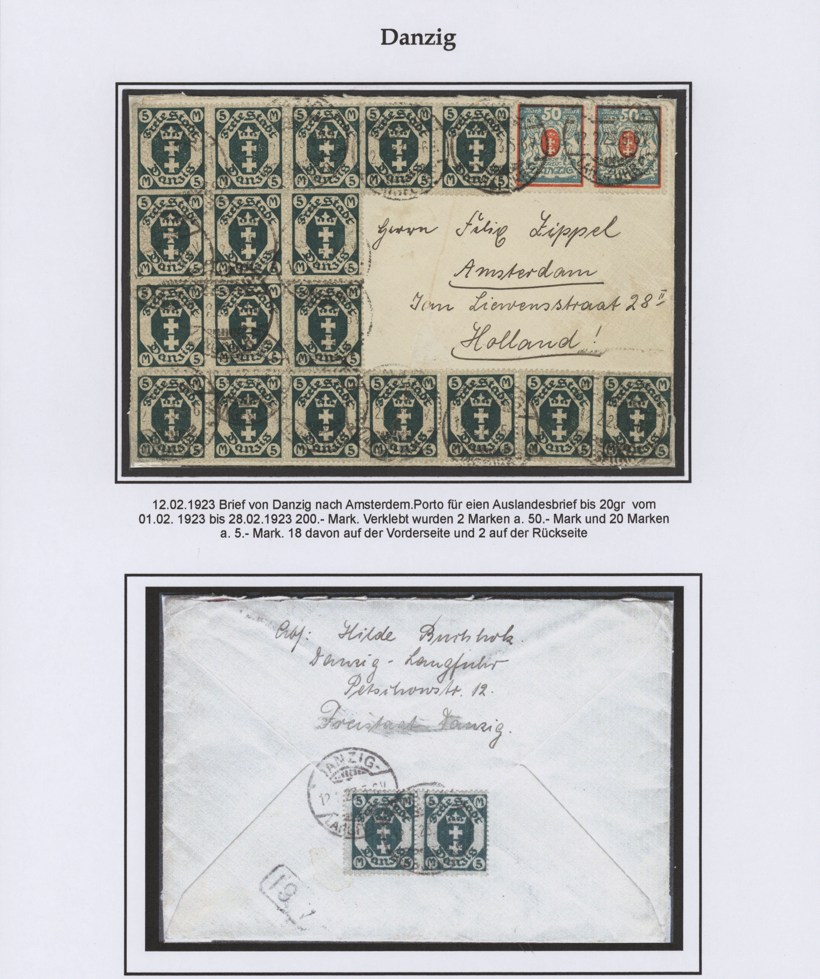 Lot 37041 - danzig  -  Auktionshaus Christoph Gärtner GmbH & Co. KG Sale #44 Collections Germany