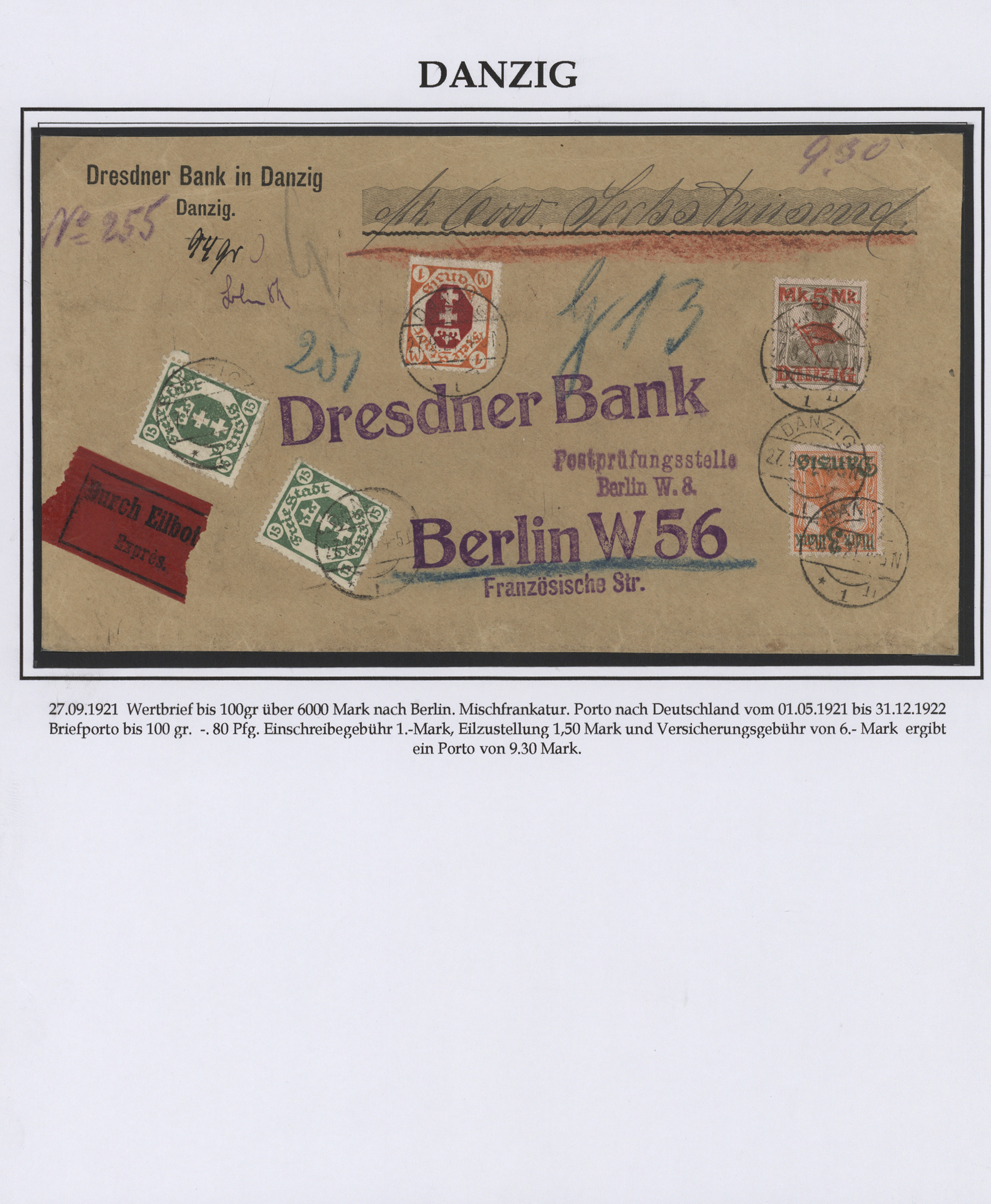 Stamp Auction Danzig Sale 43 Collection Peter Zgonc German